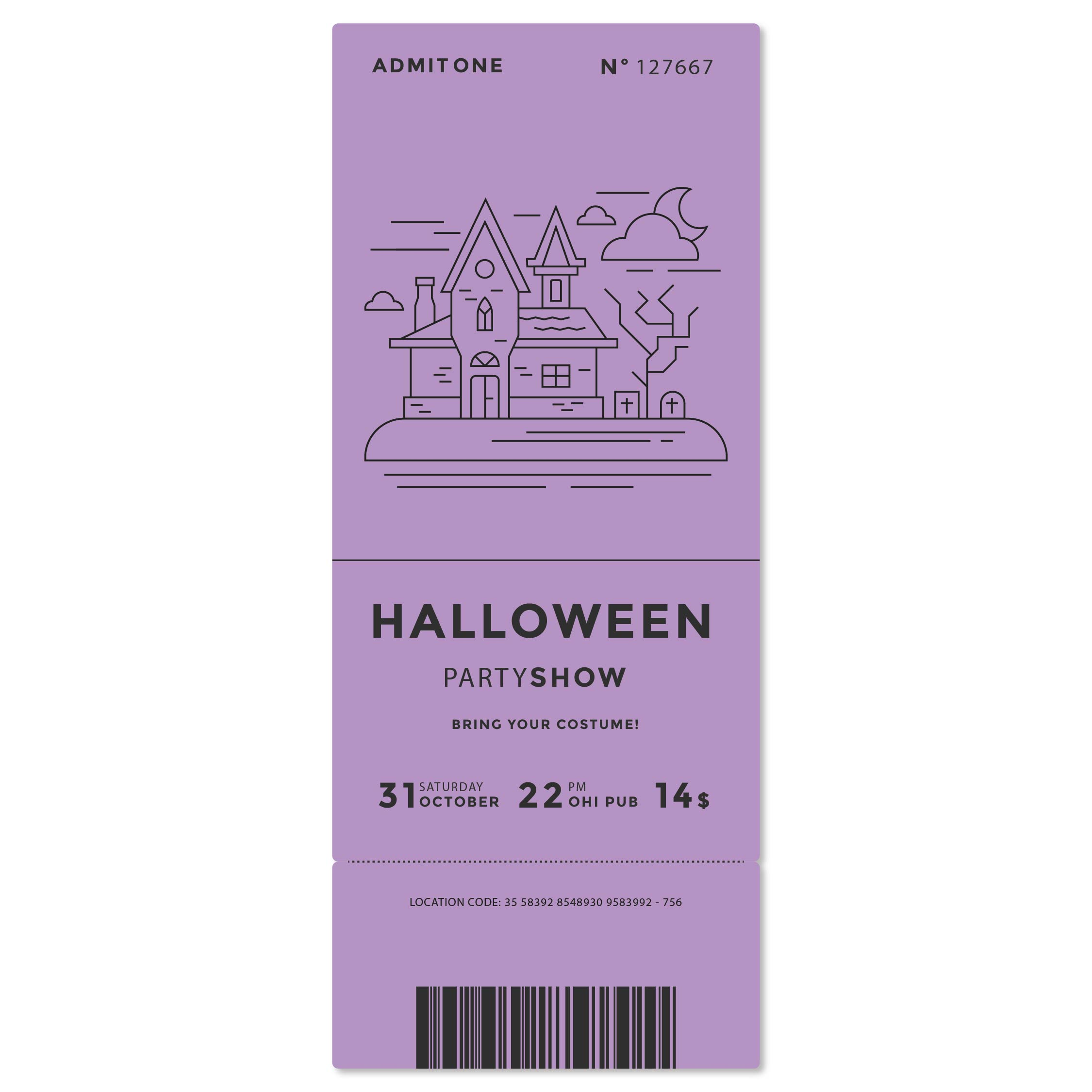 Scary Halloween Invitation Templates Printable