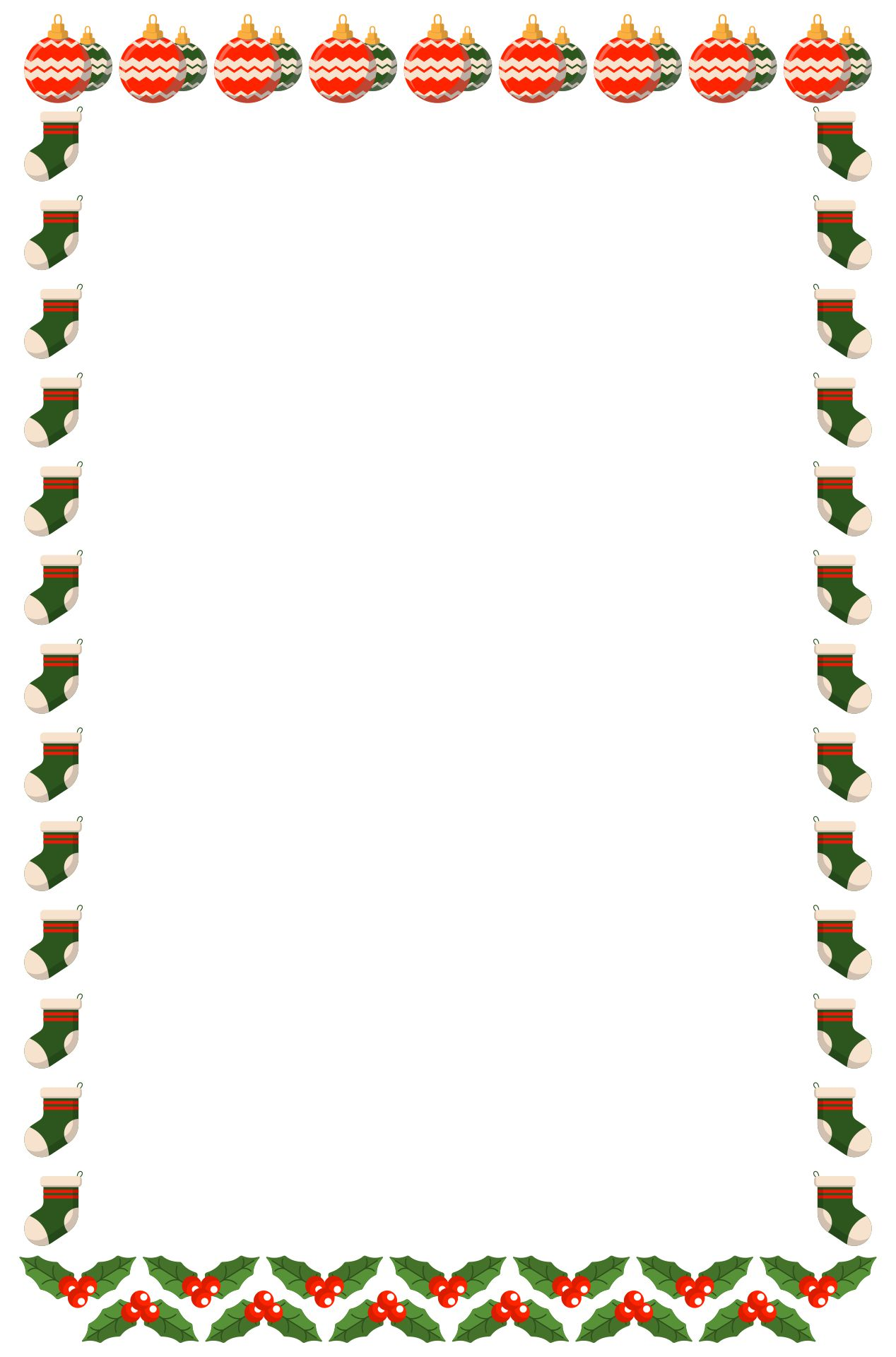 Printable Christmas Letter Head