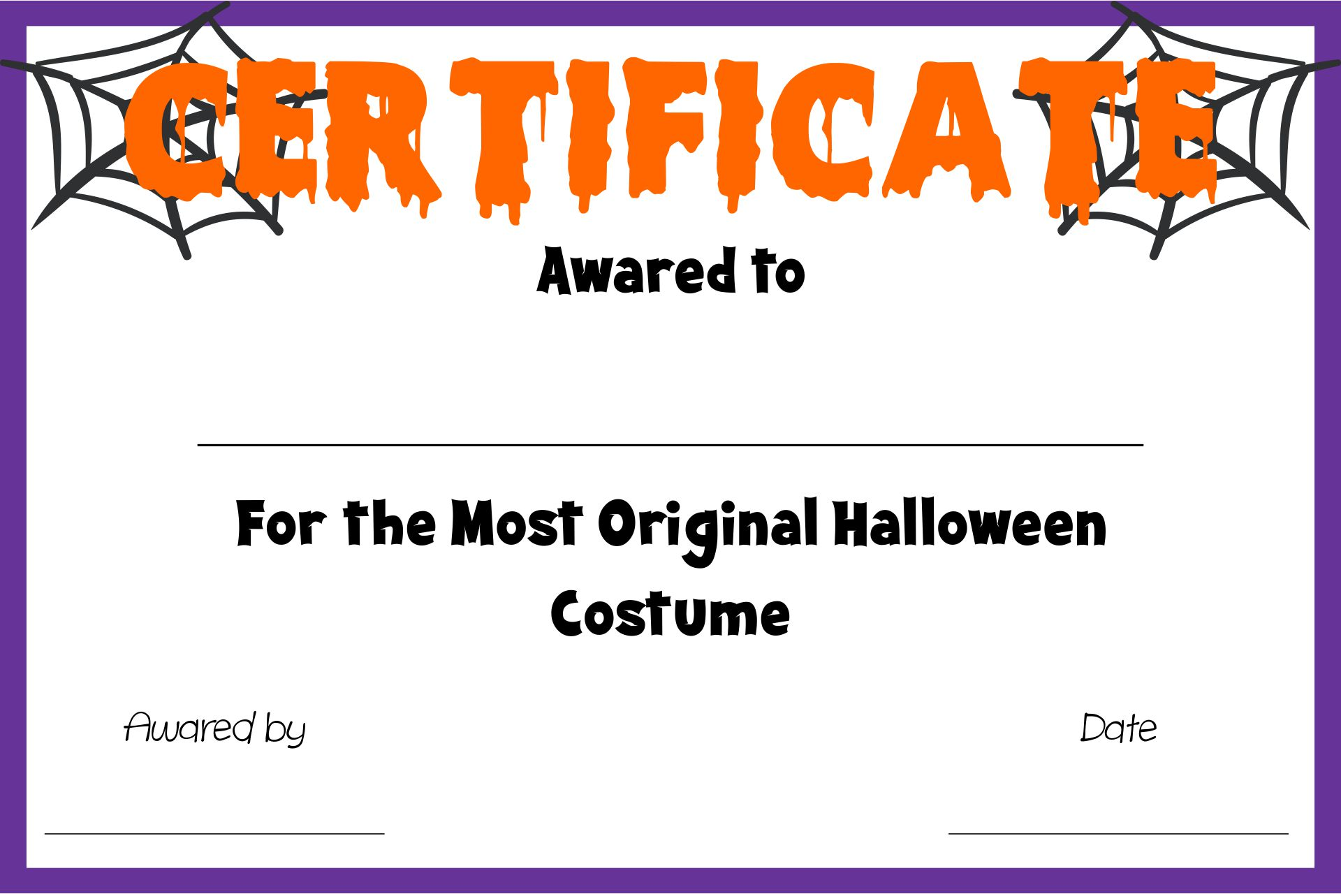 Printable Halloween Awards