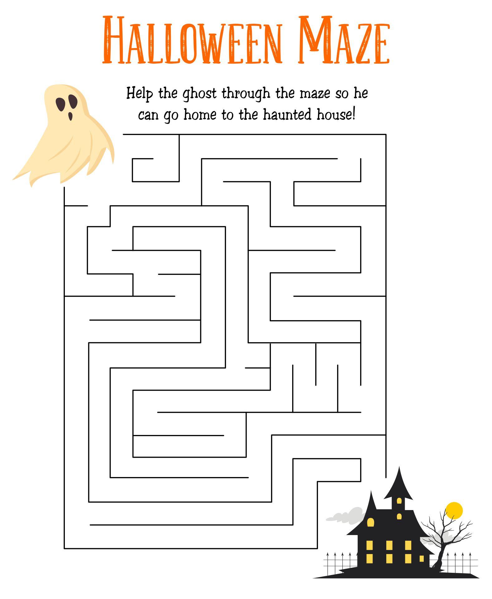 Scary Halloween Mazes Printable