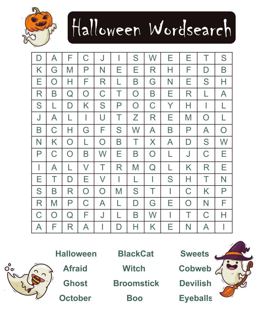 Printable Halloween Word Games
