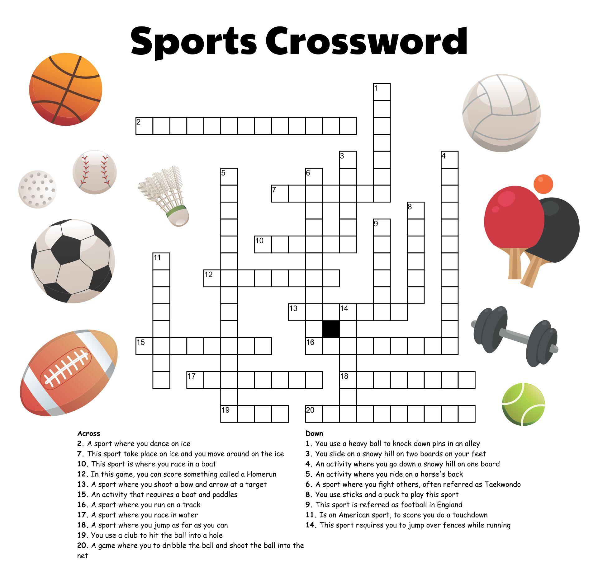 Sport Crossword Printable