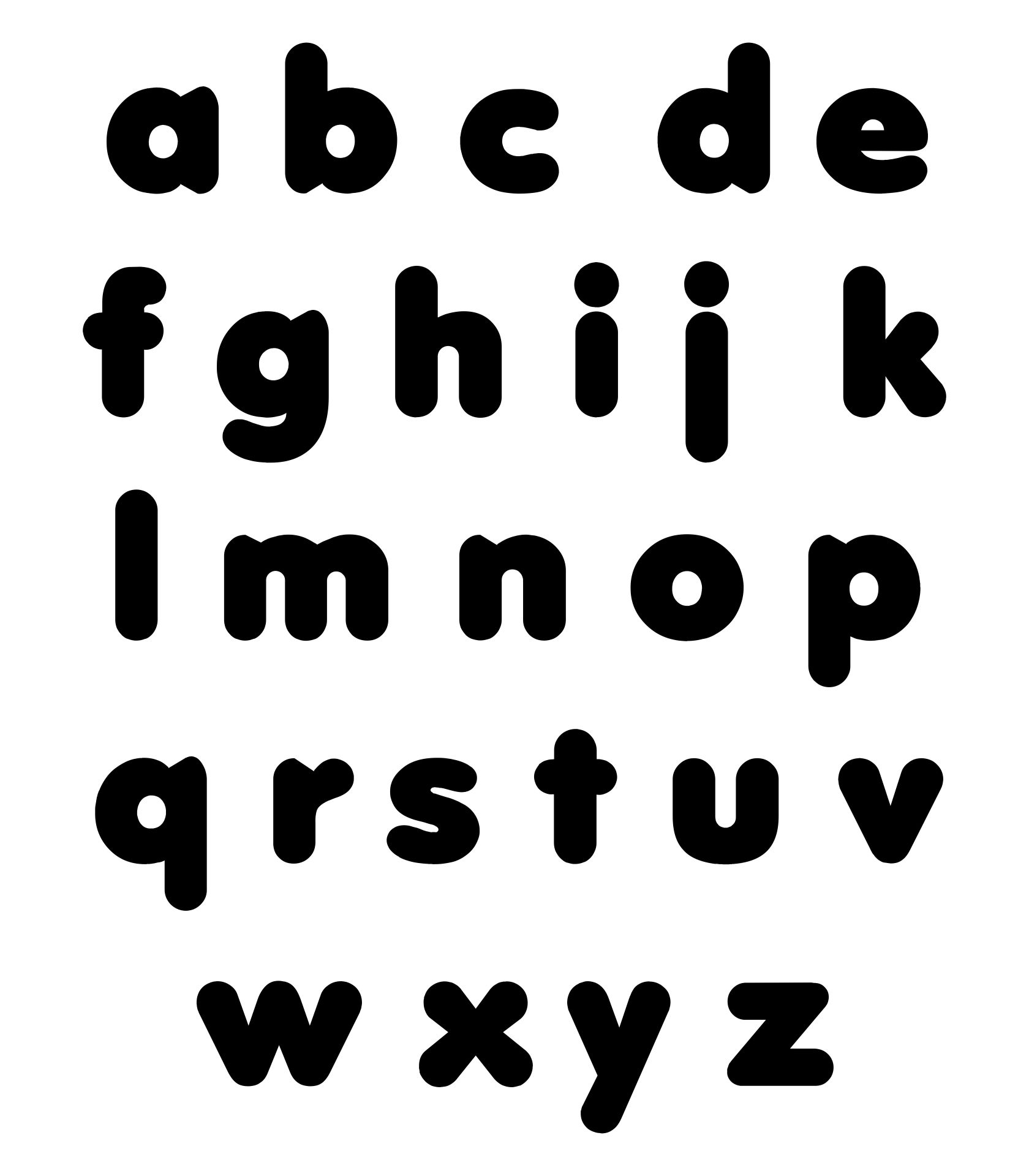 Printable Alphabet Letters To Cut