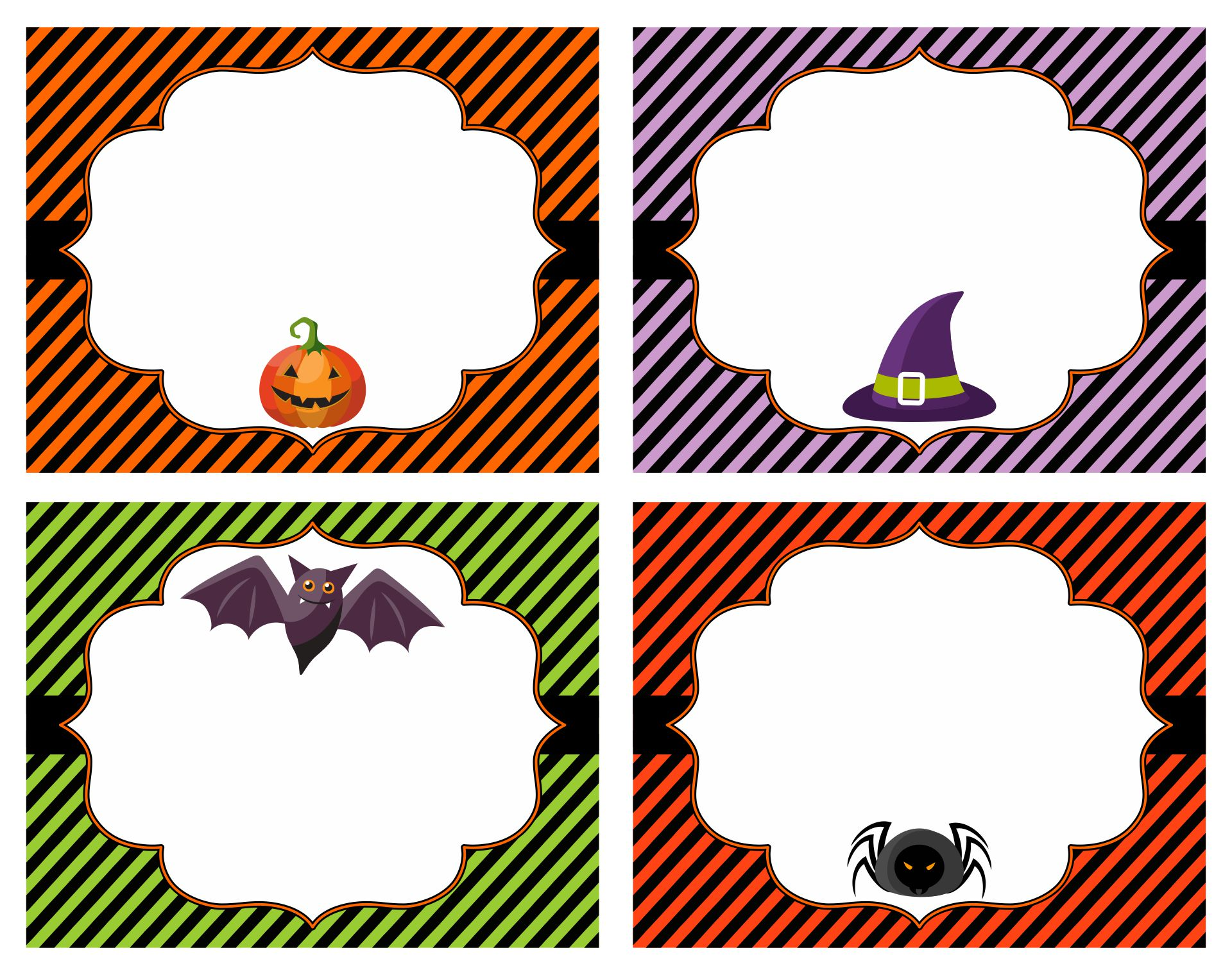 Blank Printable Halloween Labels