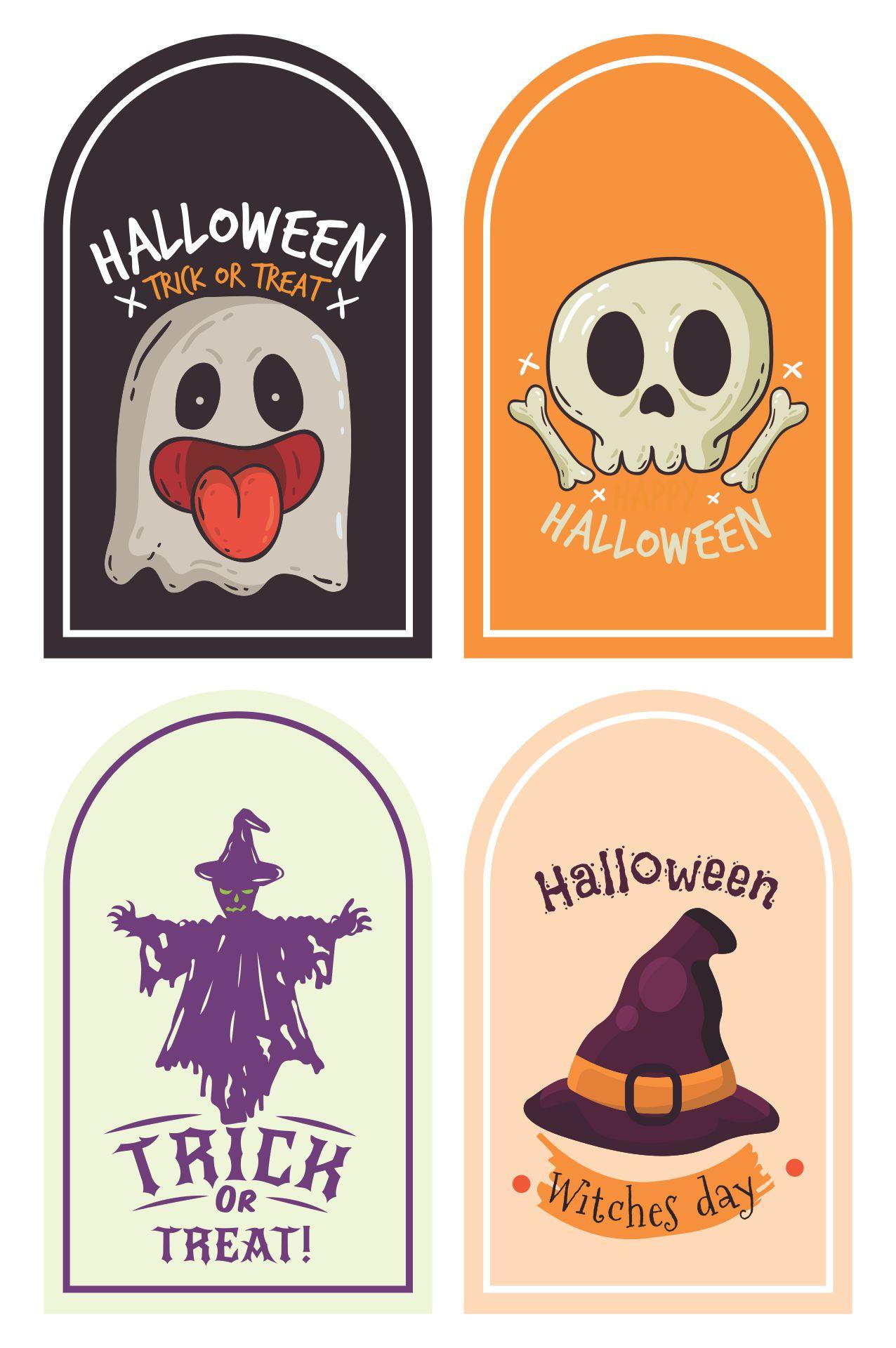 Printable Happy Halloween Tags