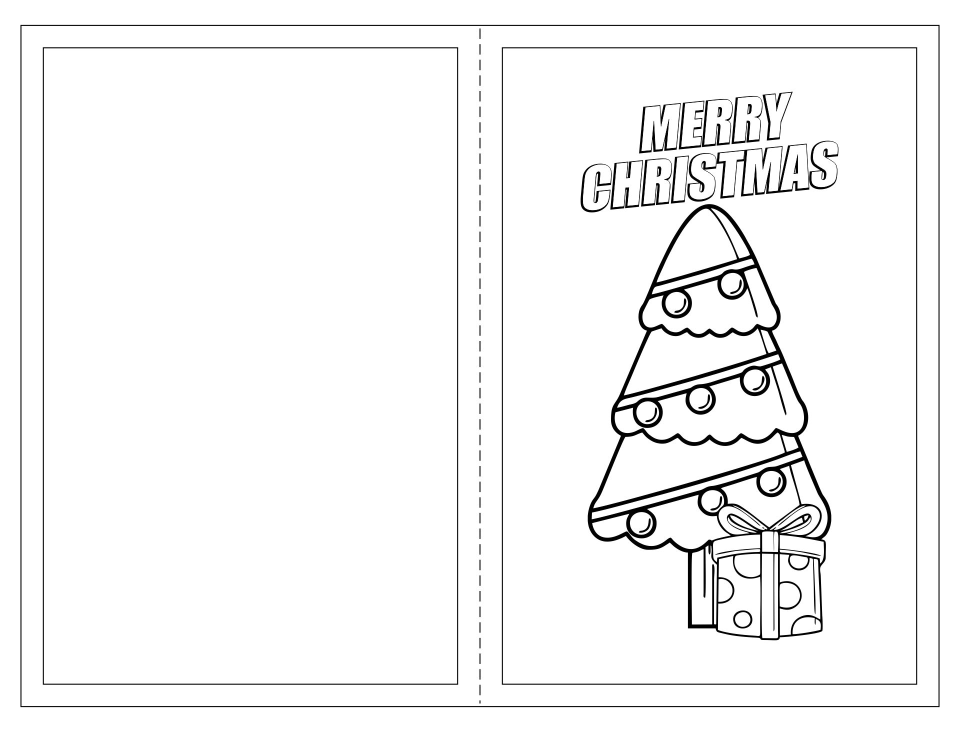 Printable Christmas Cards You Can Color