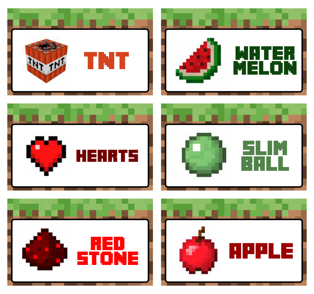Printable Minecraft Food Labels Fish