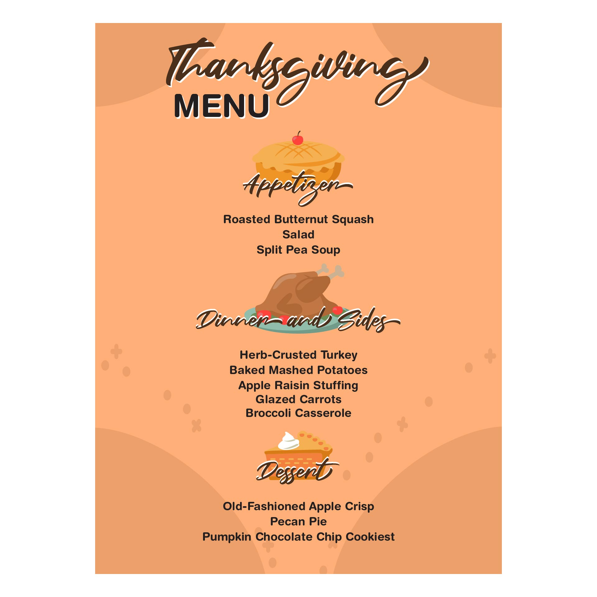 Thanksgiving Menu Card Printable Templates