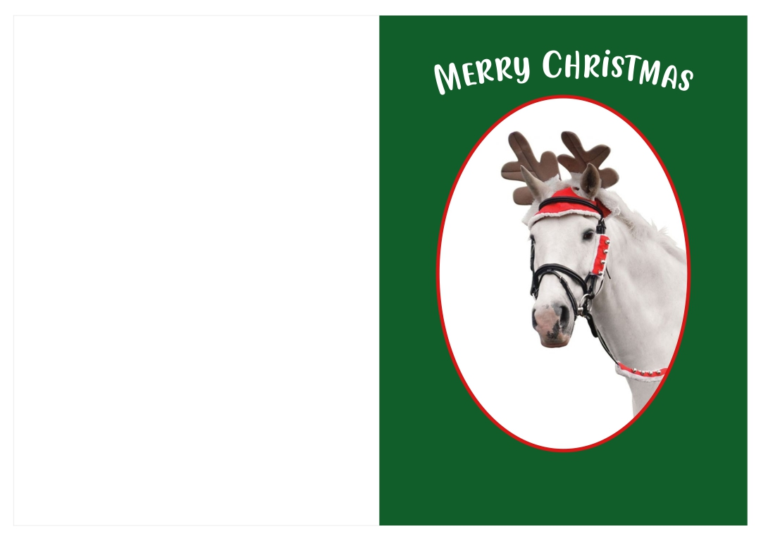 Printable Horse Christmas Cards