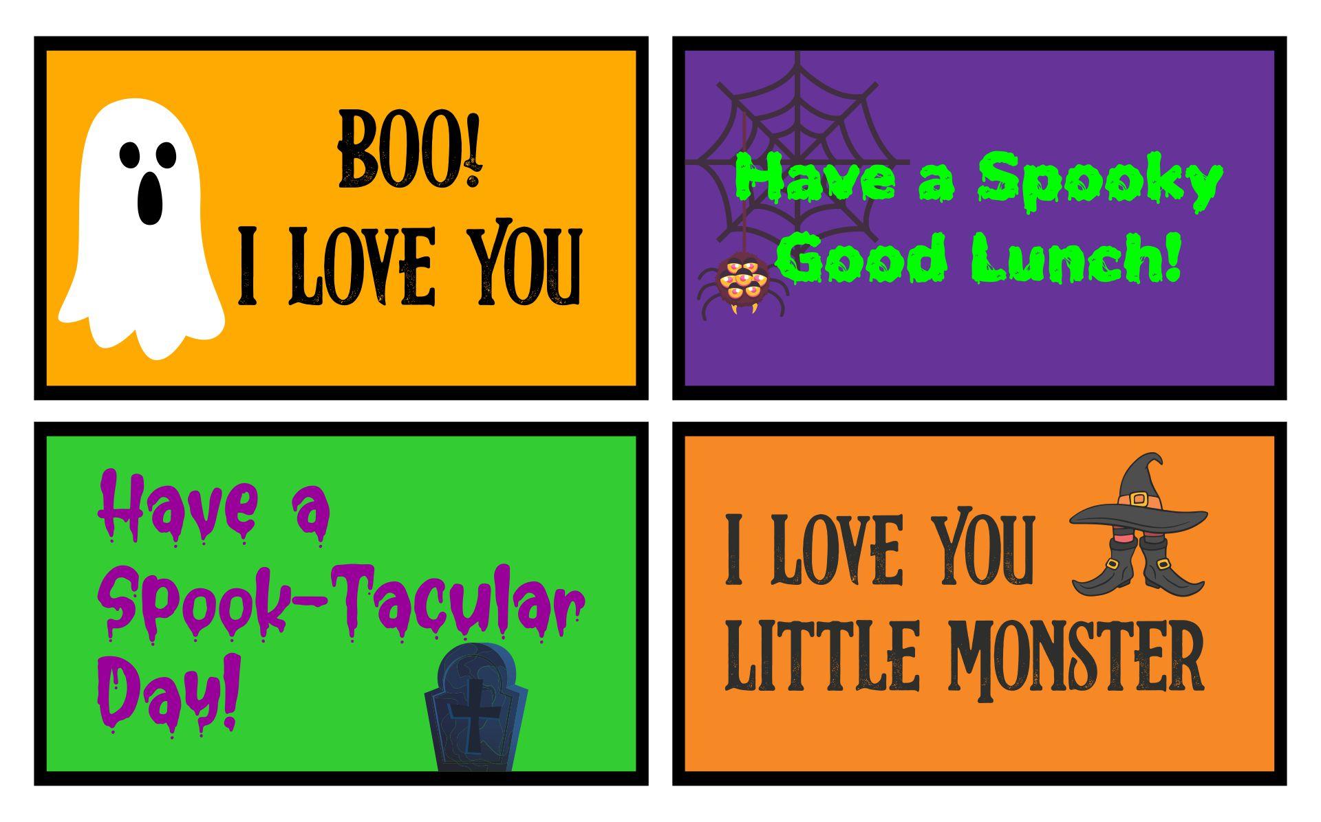Halloween Lunch Box Printables