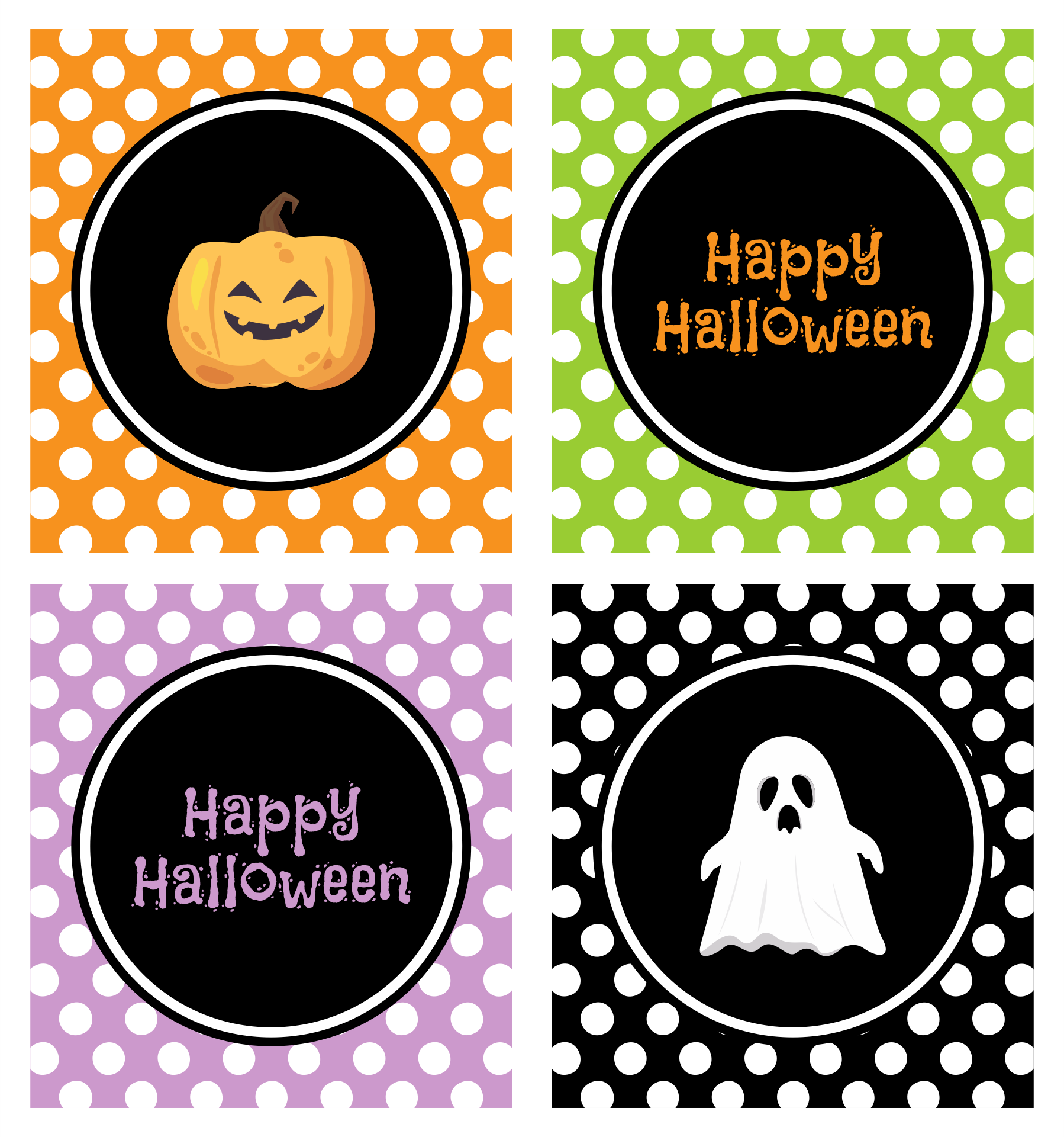 Happy Halloween  Printable Labels