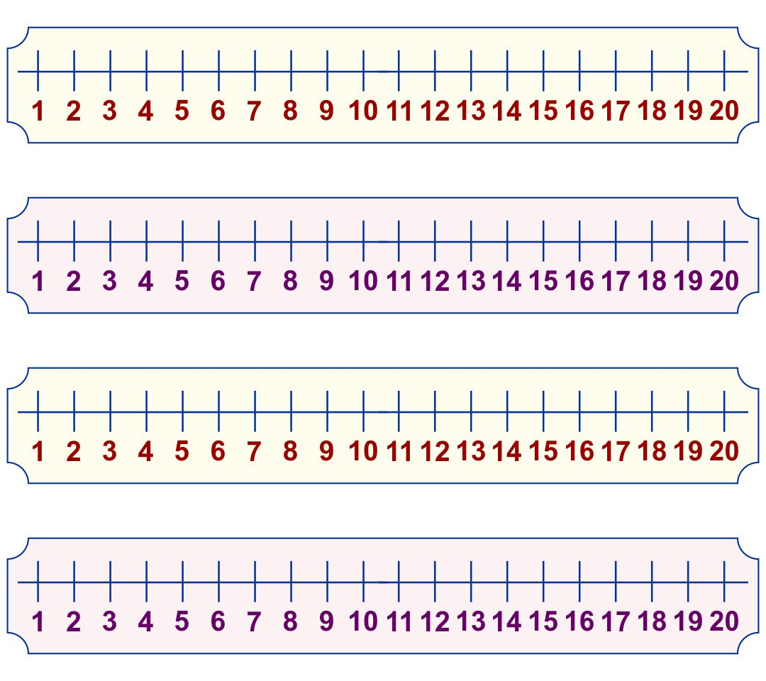 Kindergarten Number Line Printable 0-20