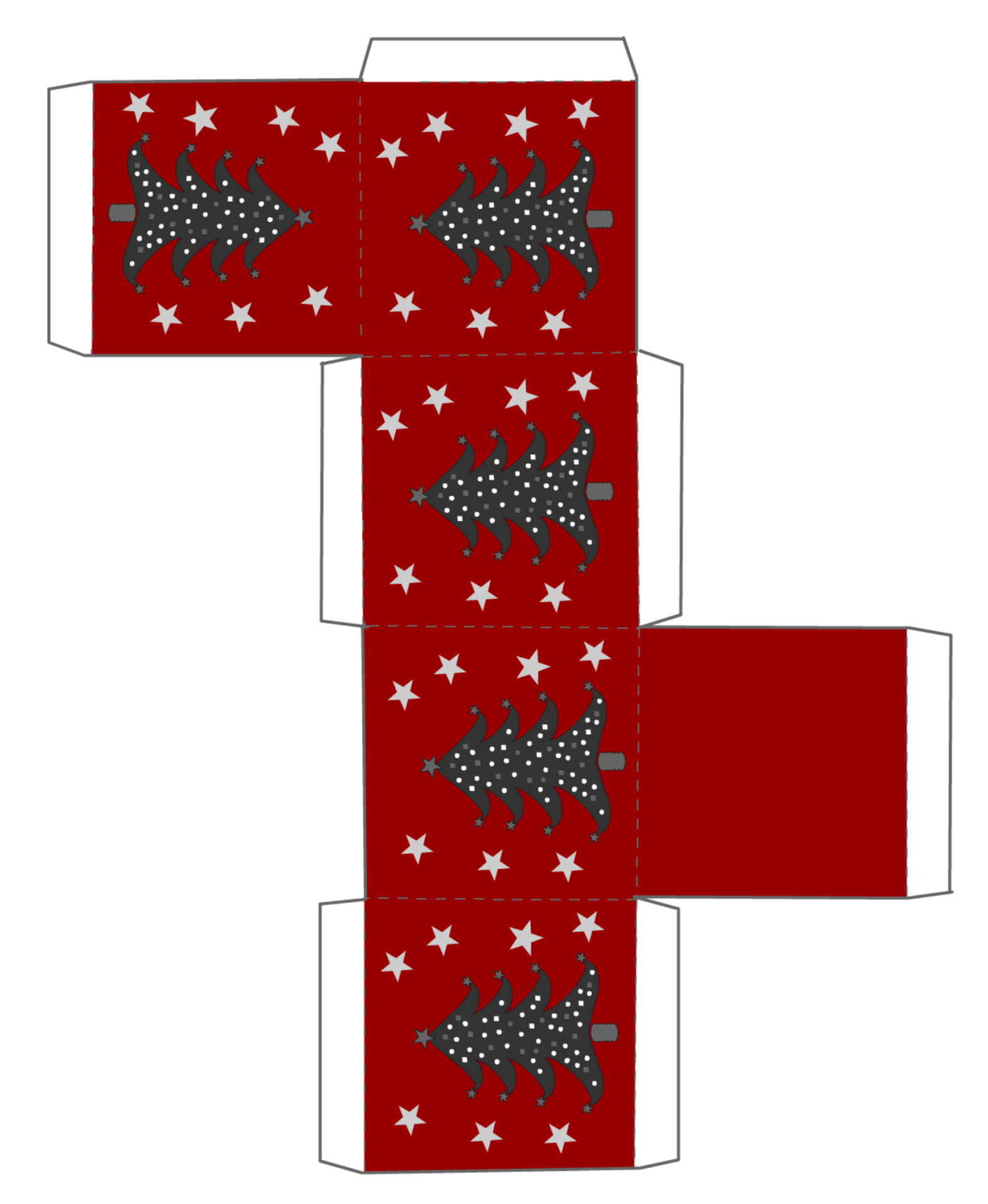 Christmas Printables Box Template