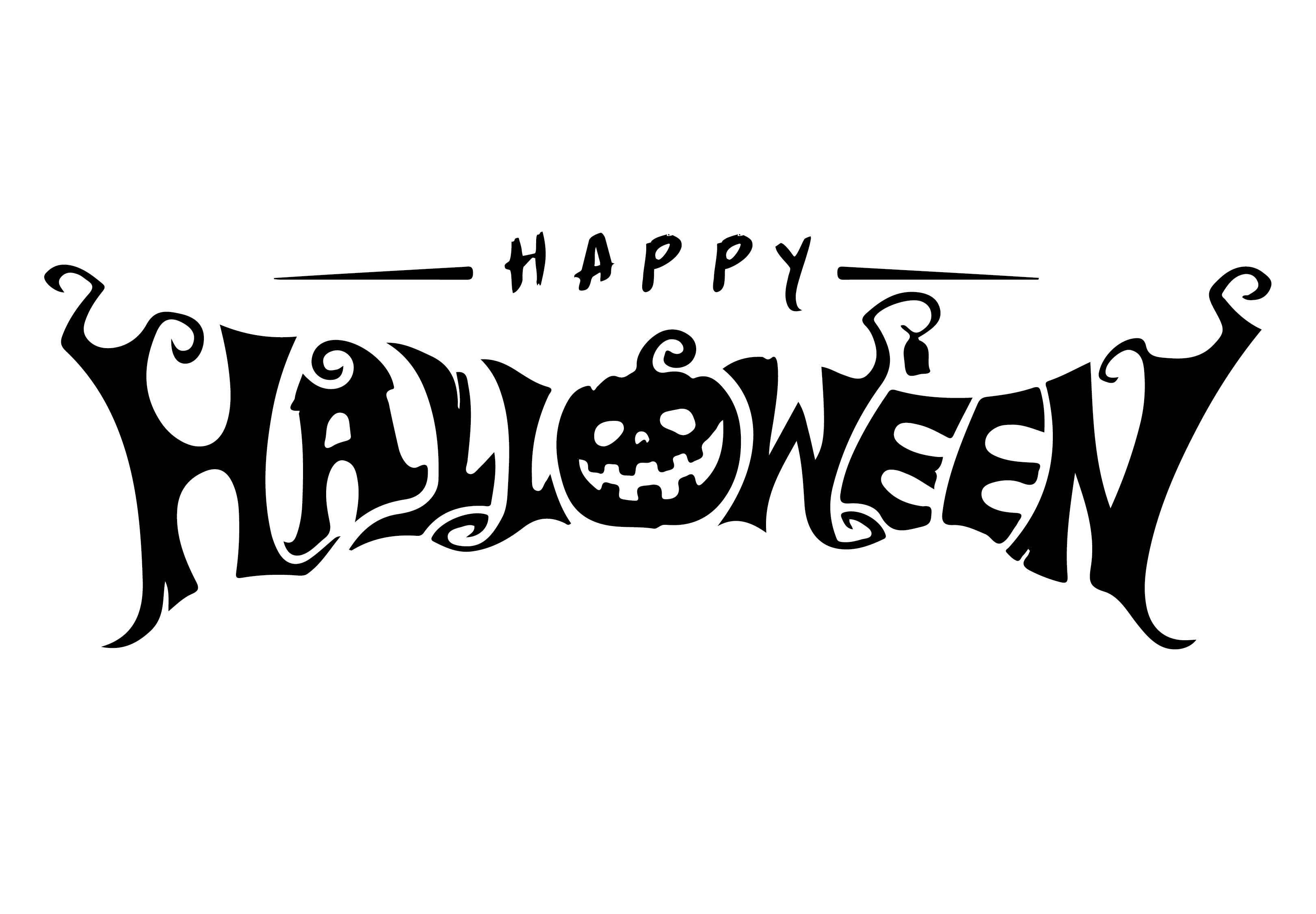 Happy Halloween  Printable Letters