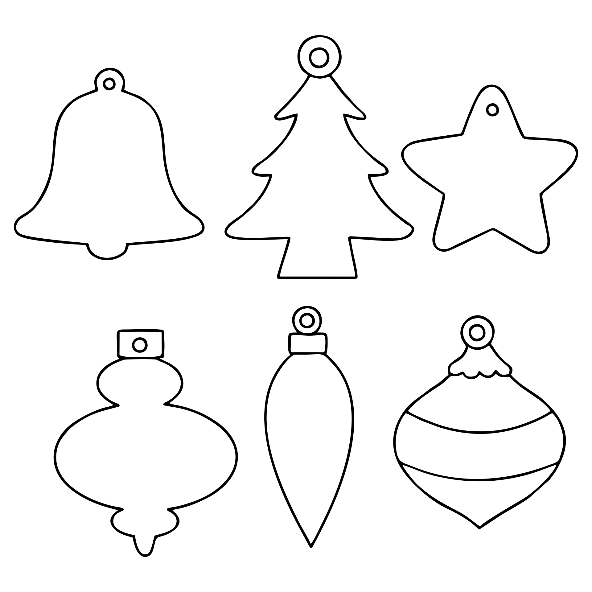 Christmas Printable Ornament Shapes