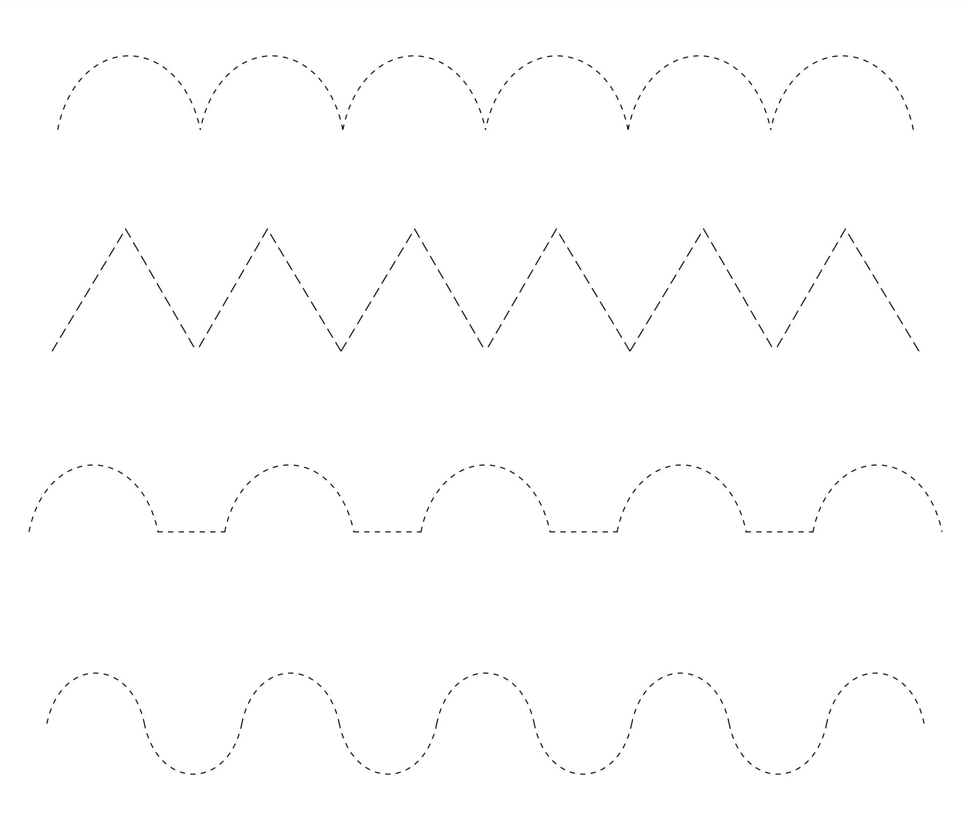 Line Tracing Worksheets  Printable