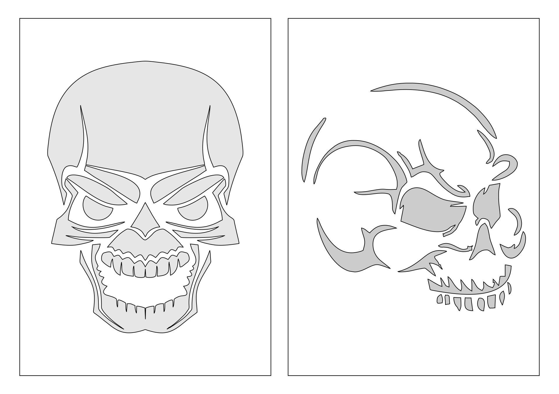 Printable Halloween Pumpkin Stencils Skulls