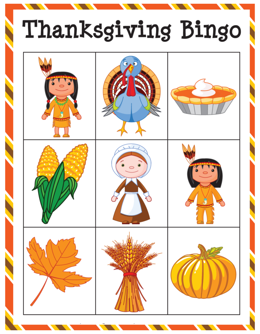 Printable Thanksgiving Card Games