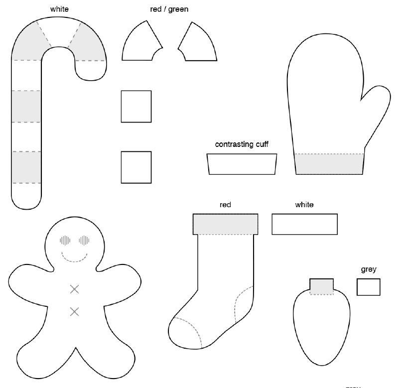 Printable Felt Christmas Ornament Patterns
