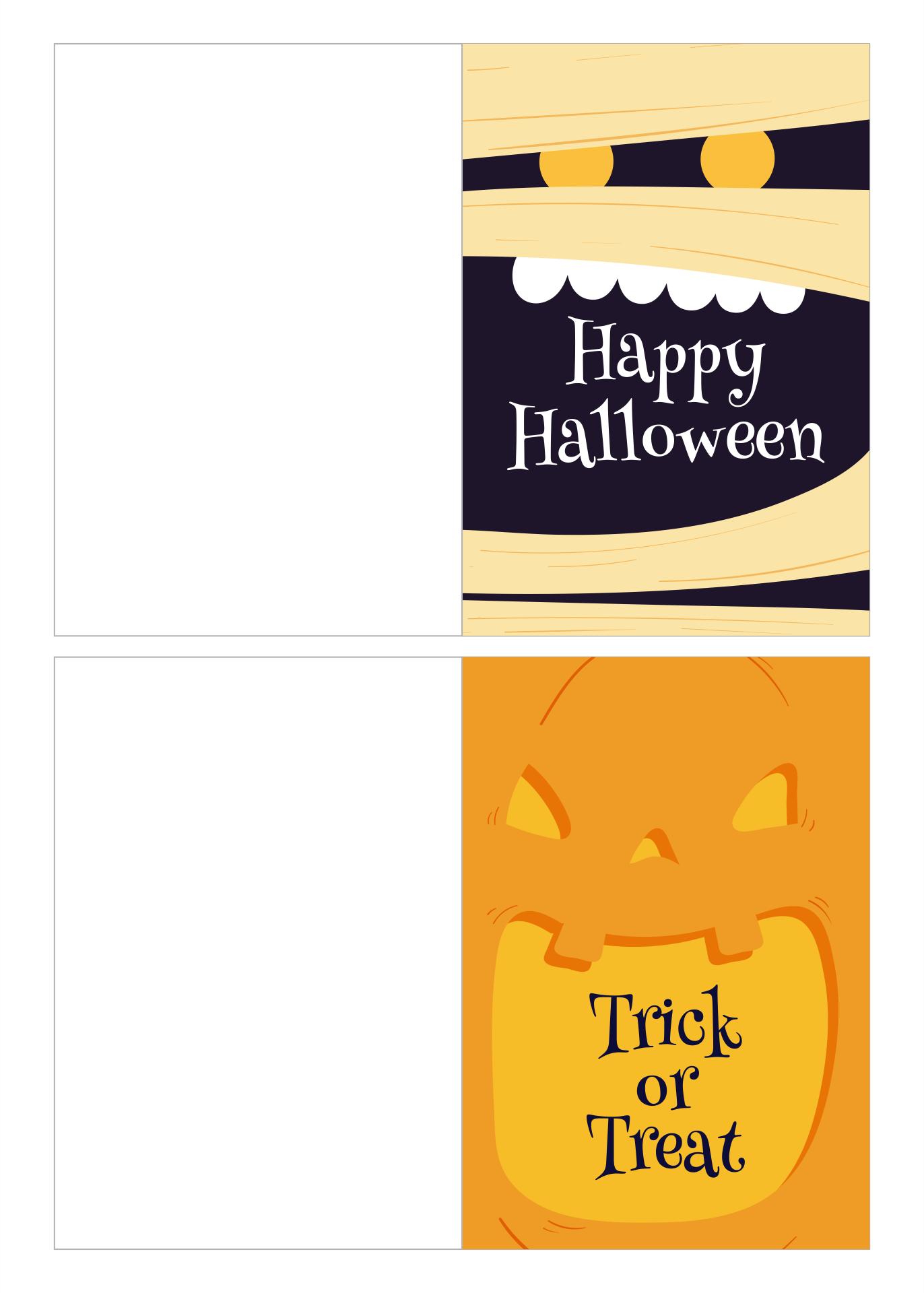 Funny Halloween Cards Printable