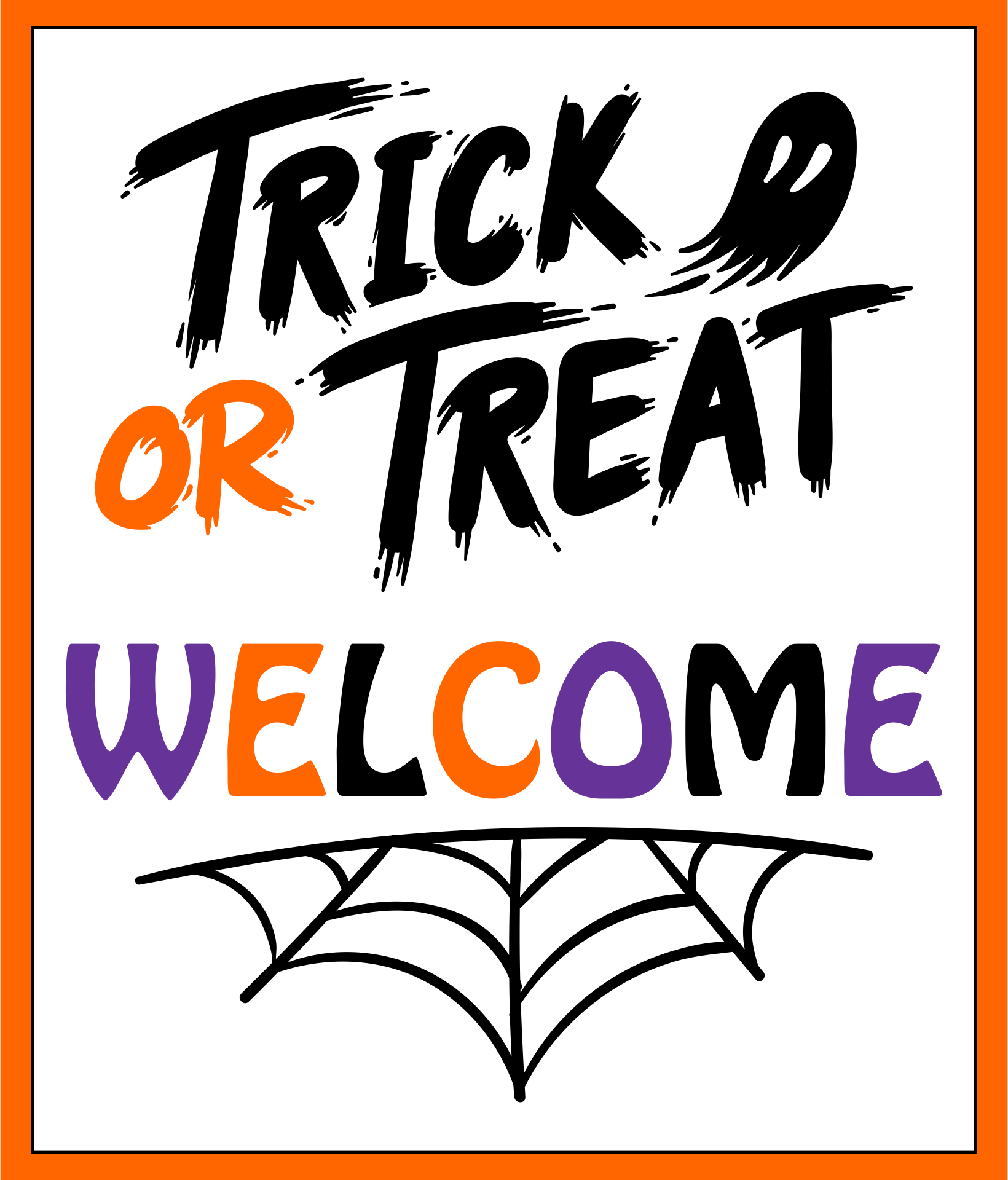Welcome Trick Or Treat Sign Halloween Printable