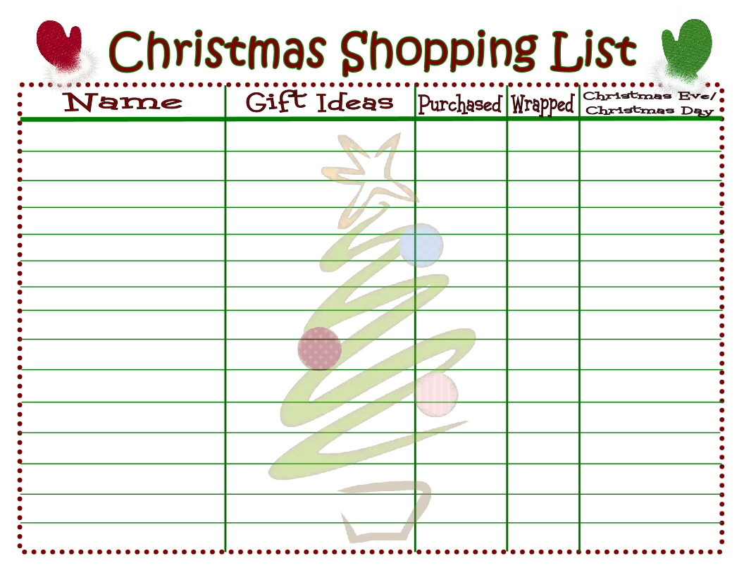 Christmas Printable To Do List