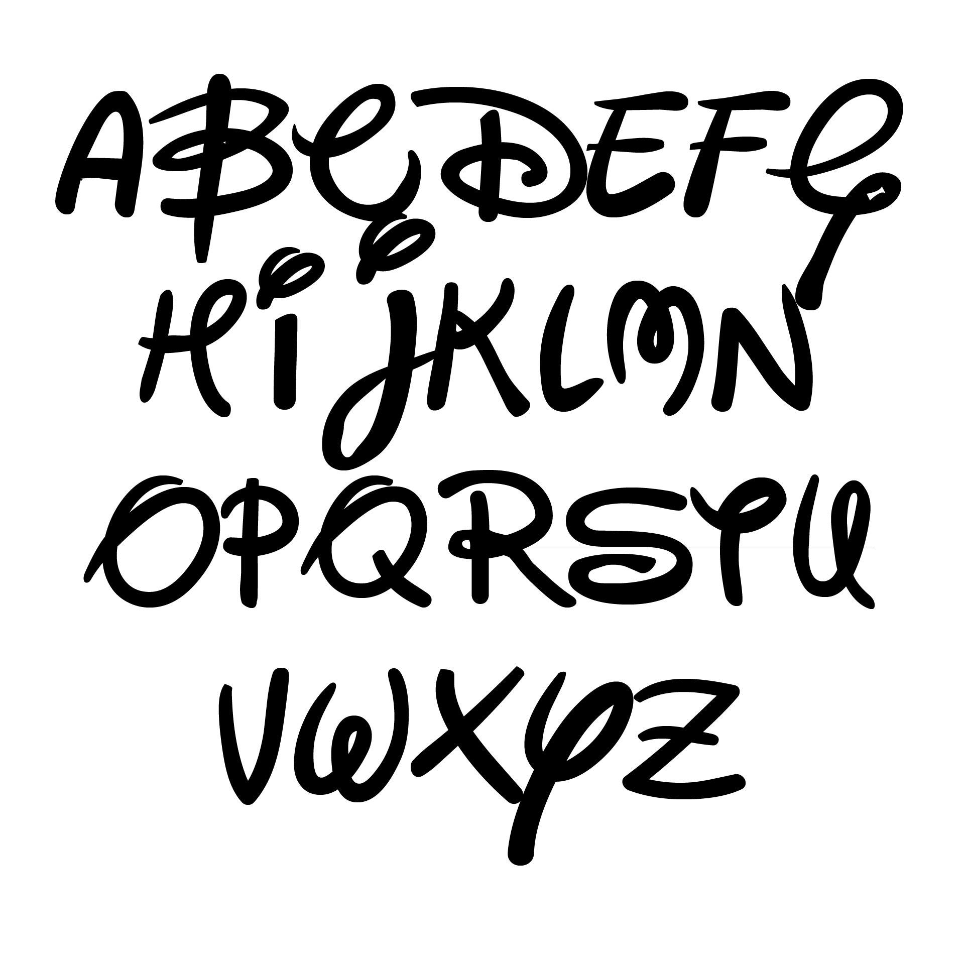 Alphabet Disney Font Printables