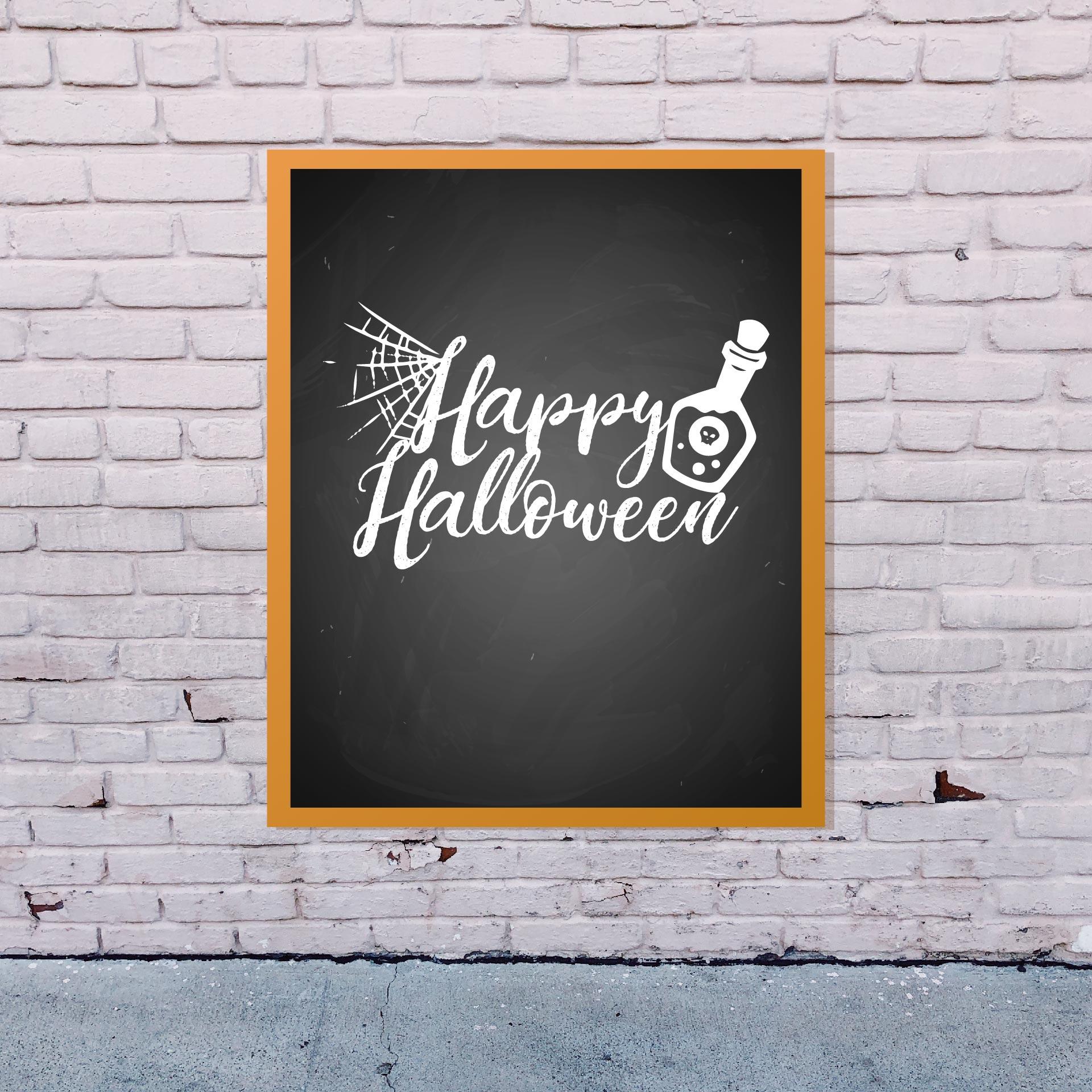 Halloween Chalkboard Printables