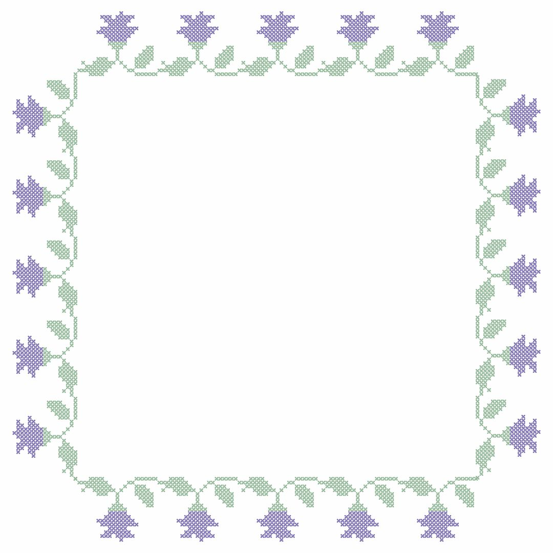 Printable Cross Stitch Borders