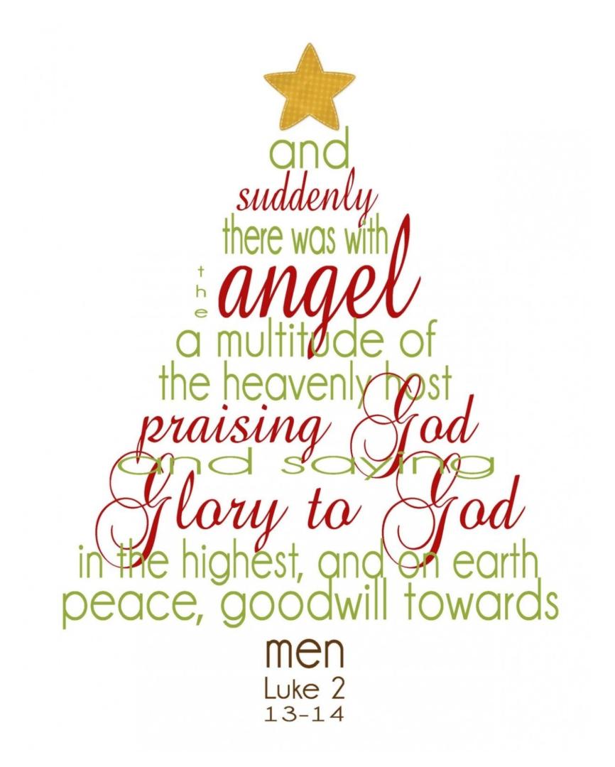 Cute  Printable Christian Christmas Cards