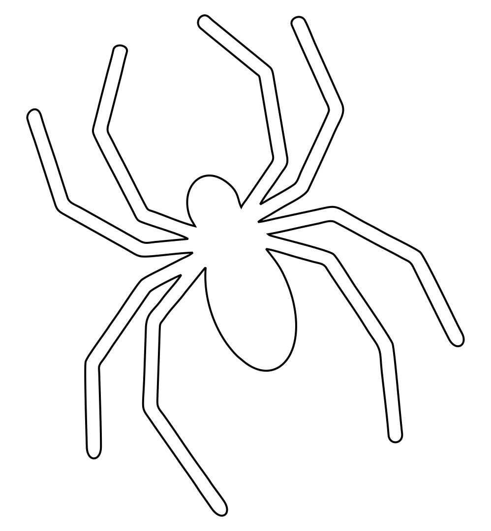 Printable Halloween Templates Spider
