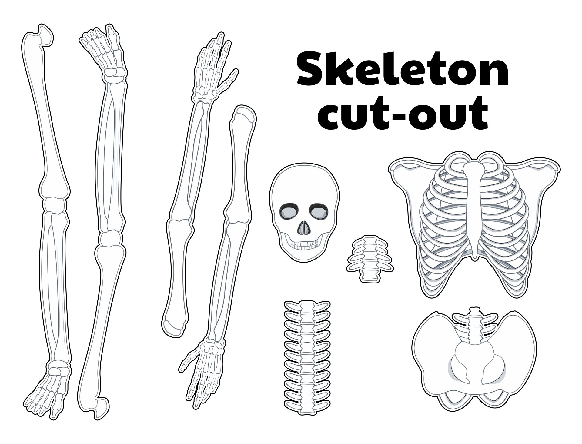 Printable Halloween Skeleton Patterns