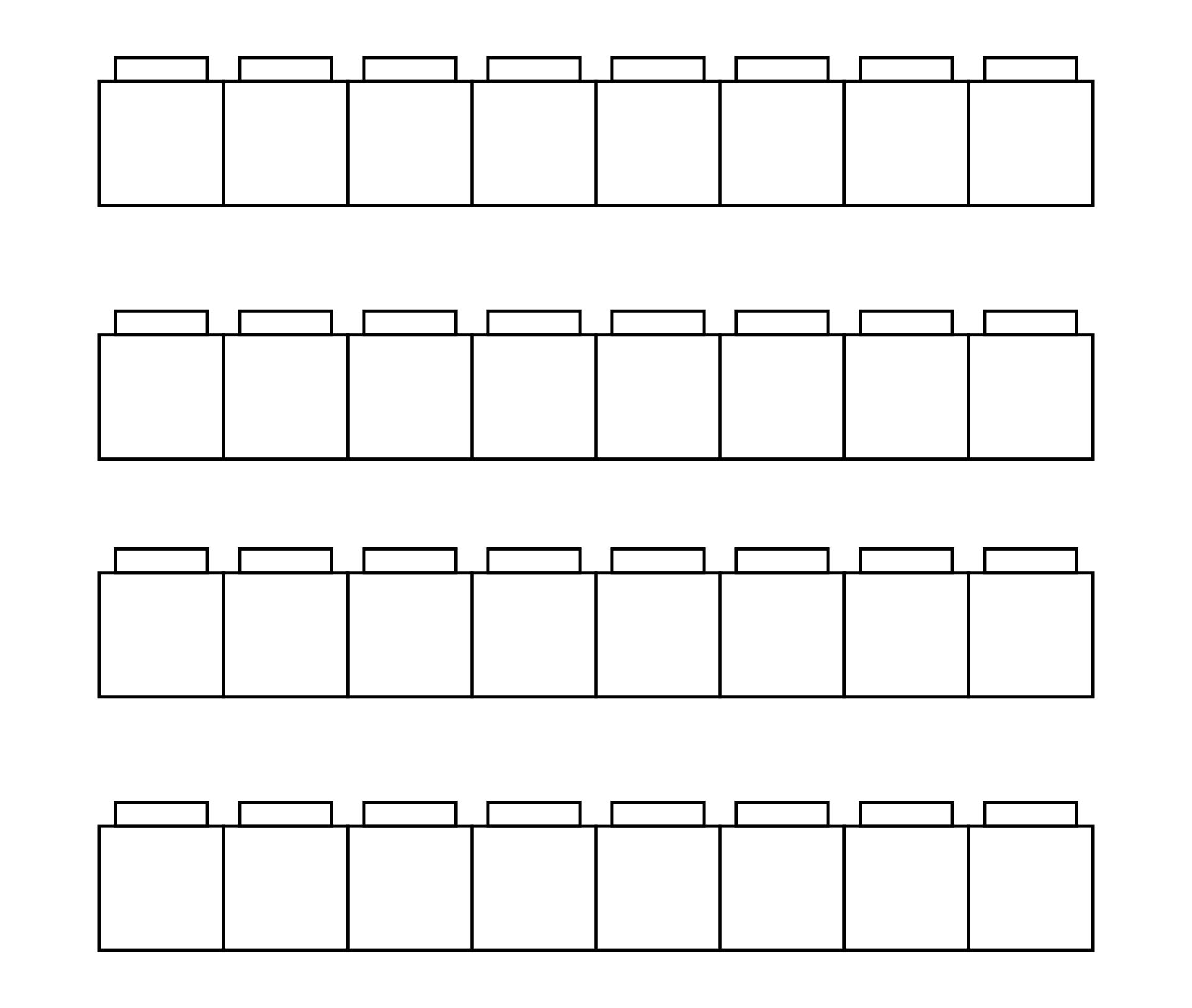 Unifix Cube Template Printable