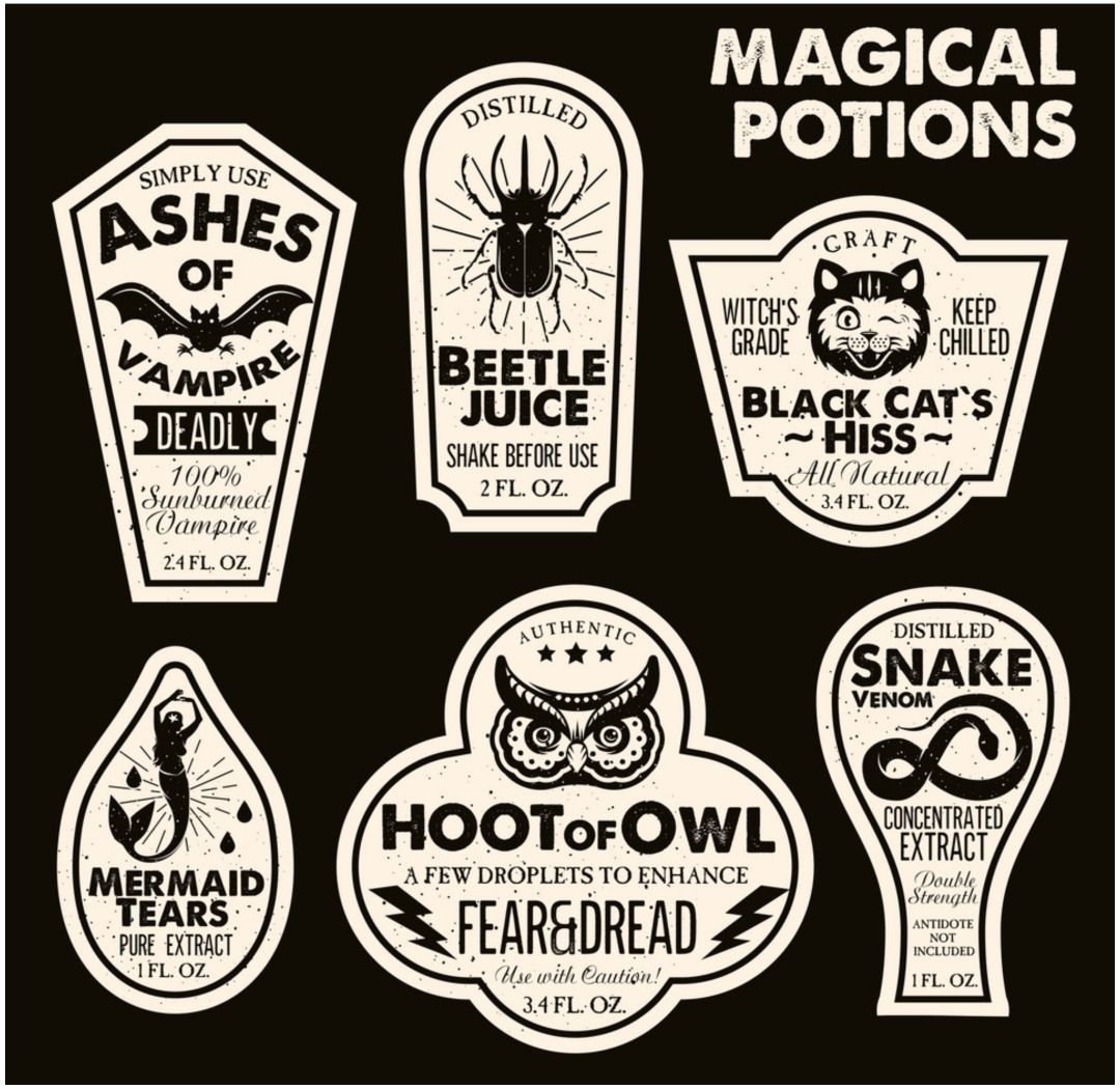 Printable Halloween Potion Labels
