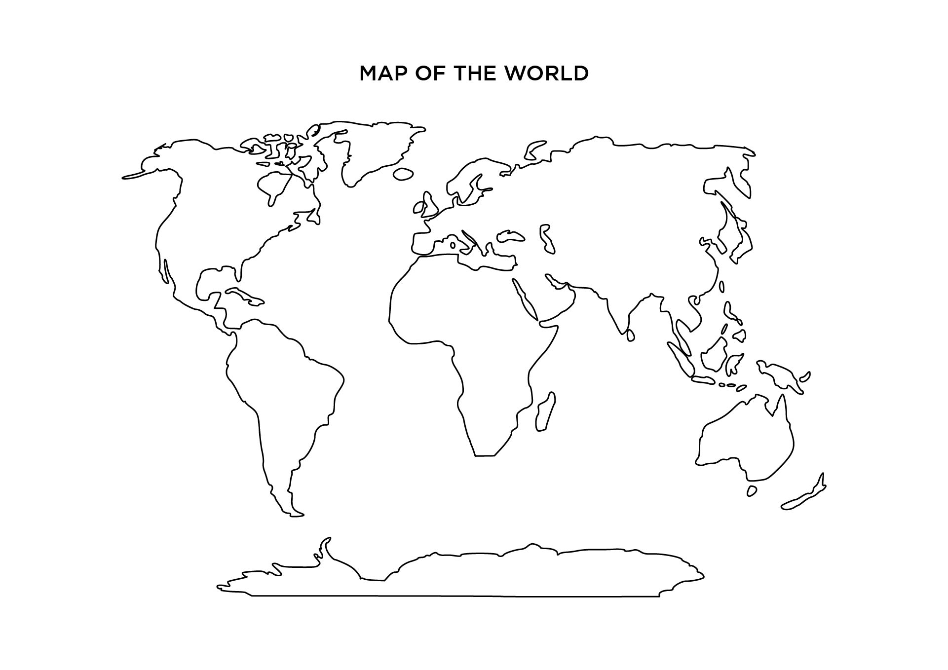Blank World Maps Printable