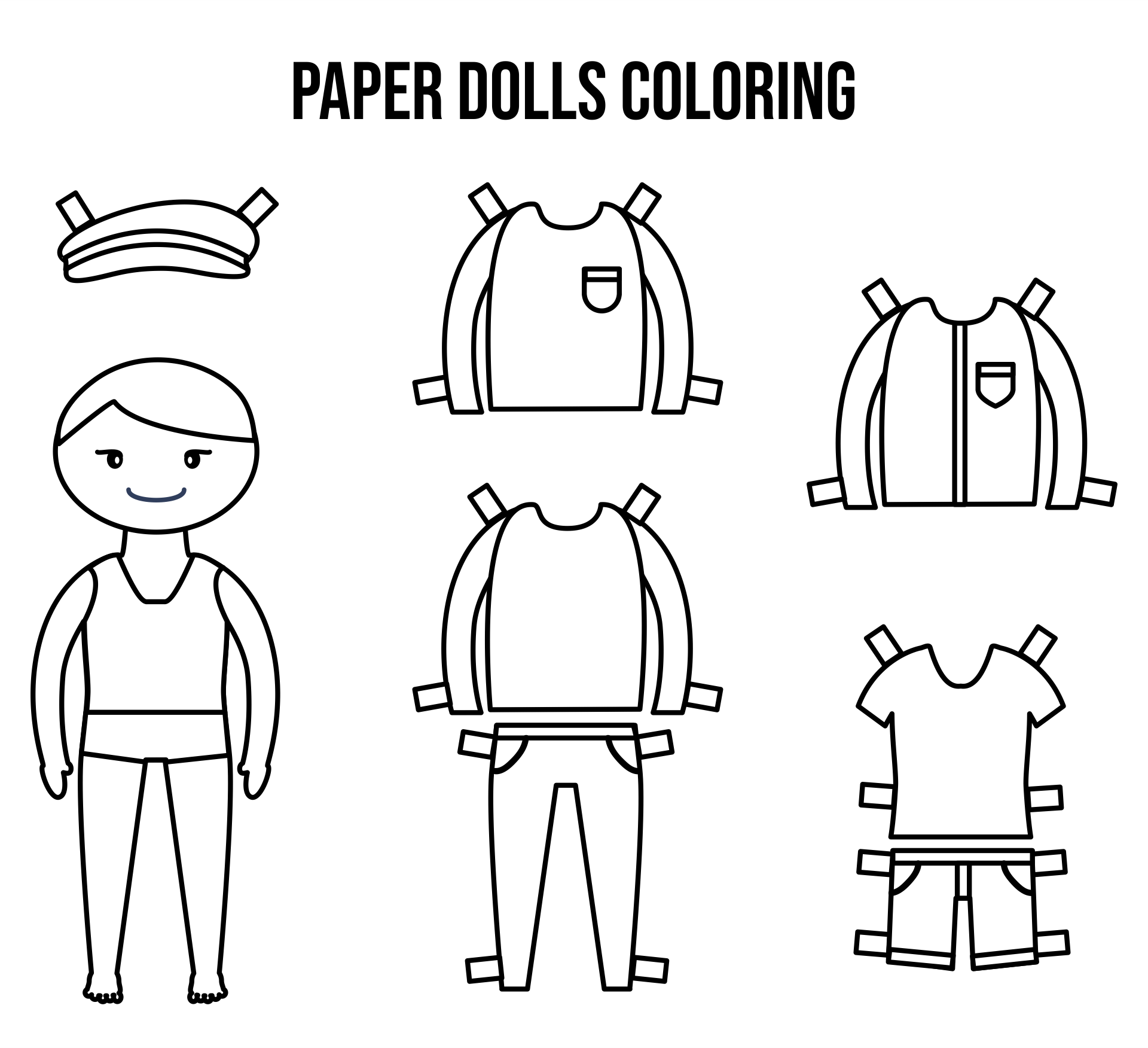 Printable Paper Dolls To Color