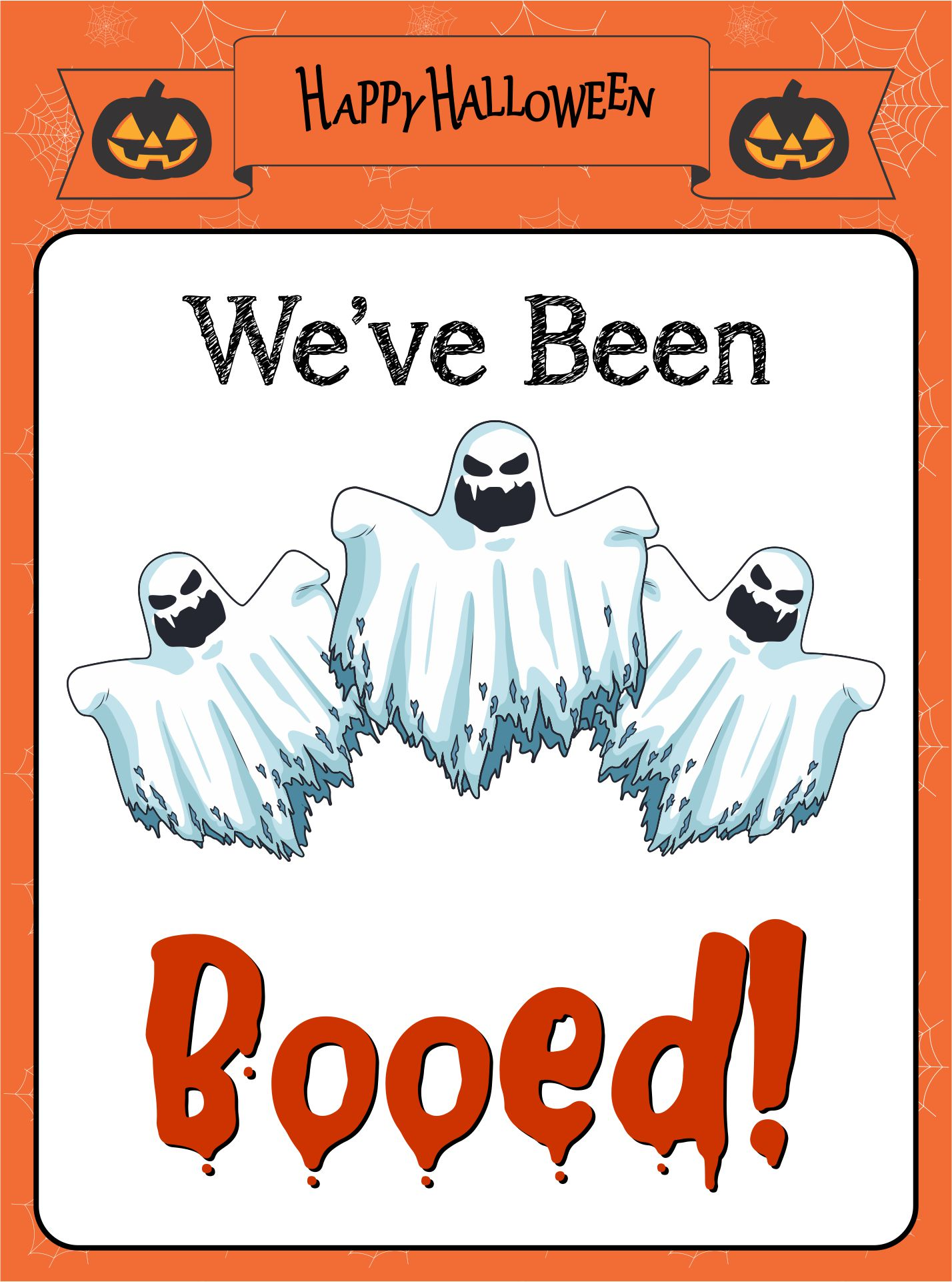Happy Halloween Signs Printable