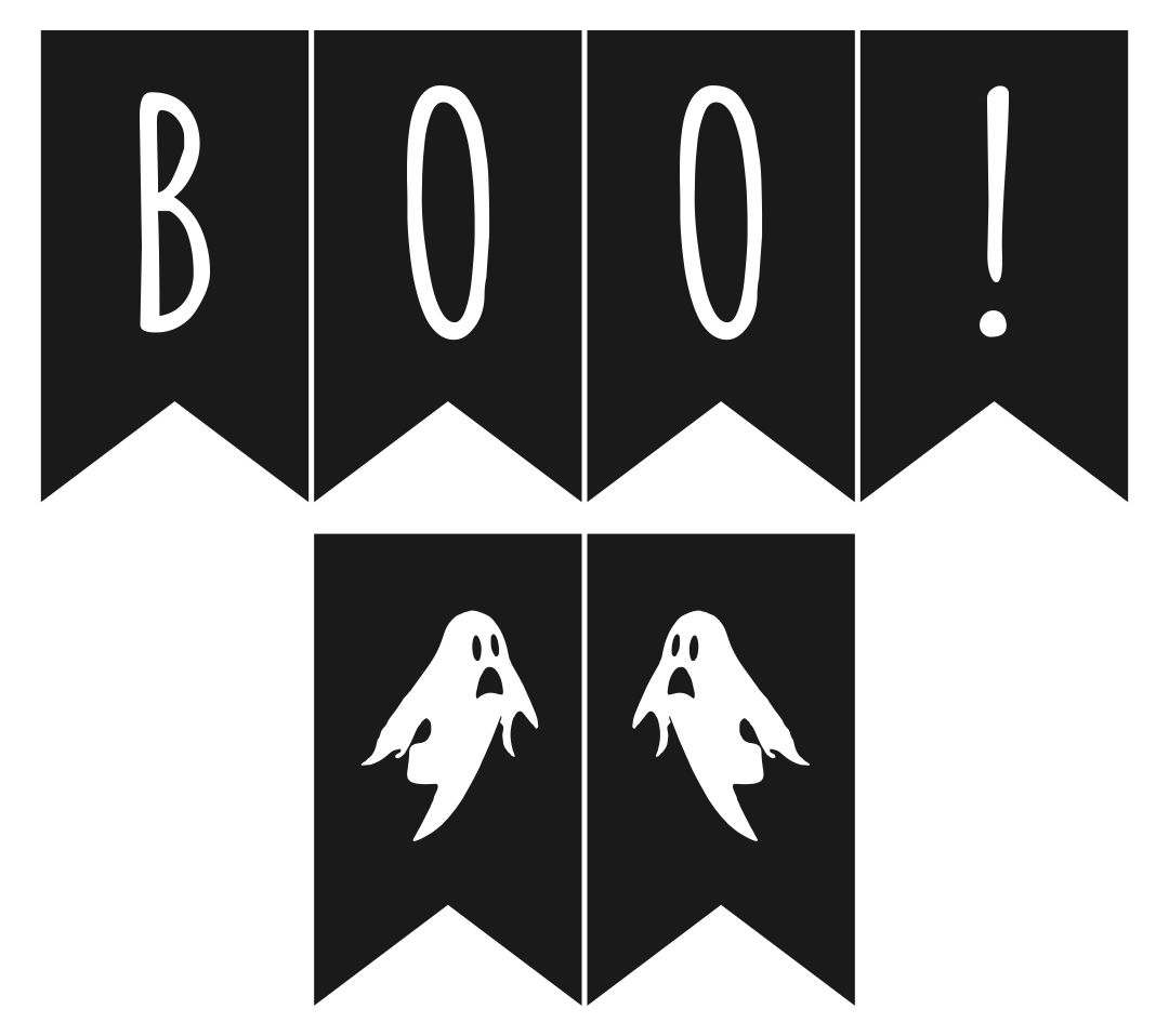 Halloween Printable Banners Letters