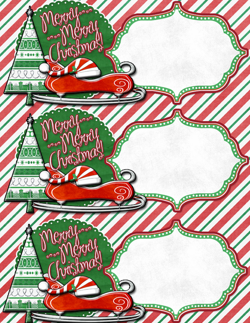 Giant Printable Christmas Tags