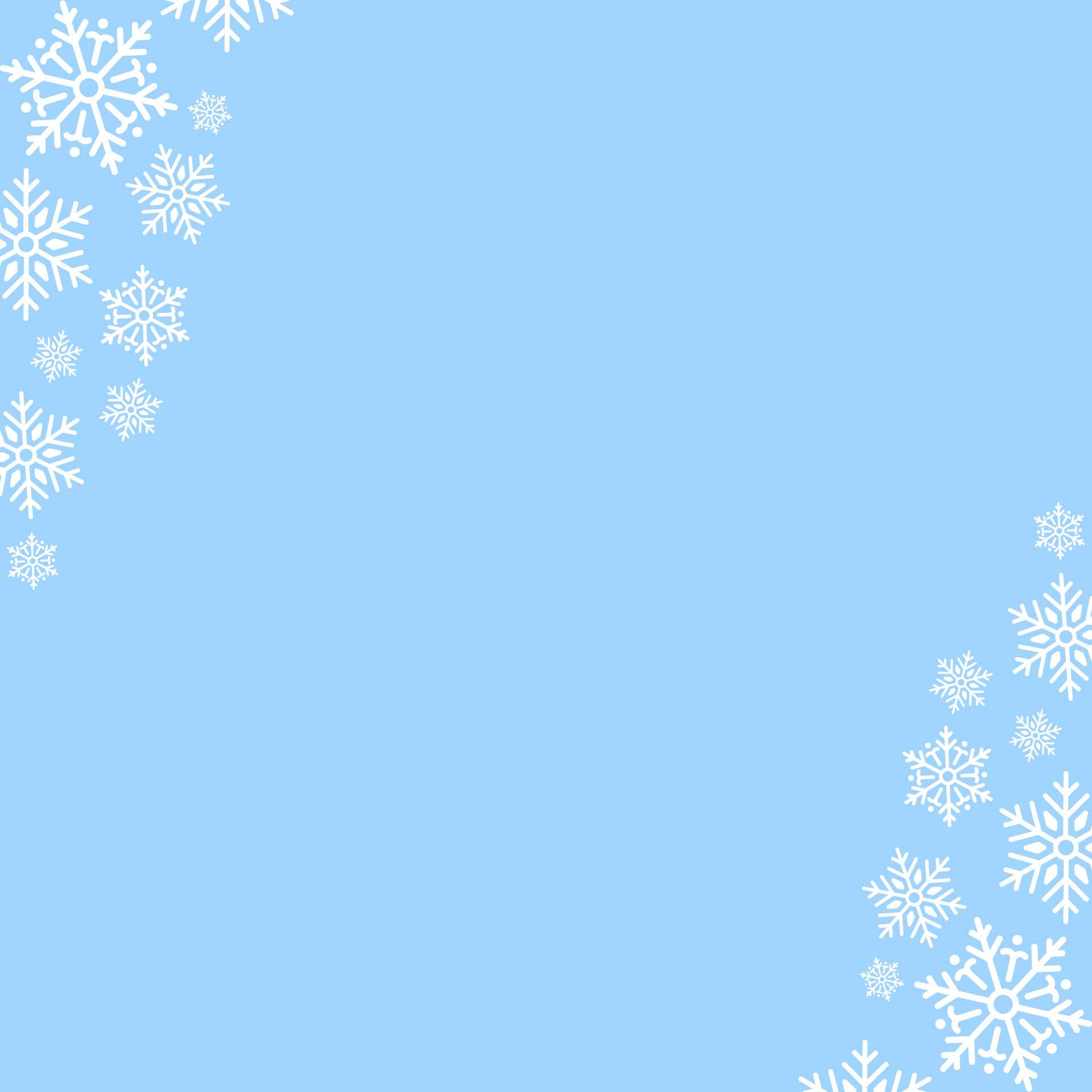 Printable Snowflake Borders