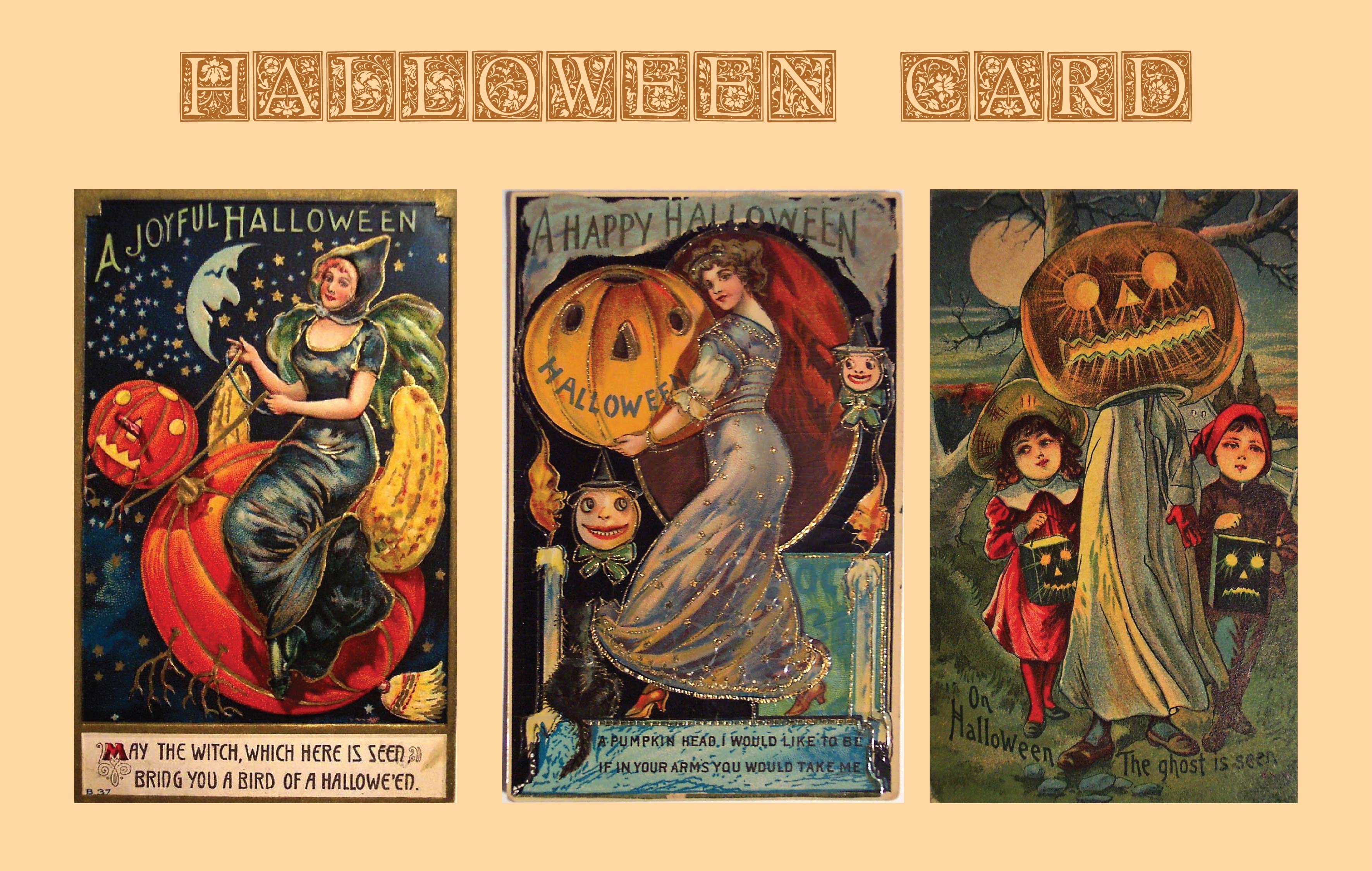 Printable Vintage Halloween Cards