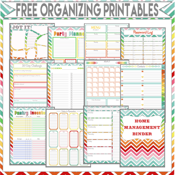 Binder Organization  Printables