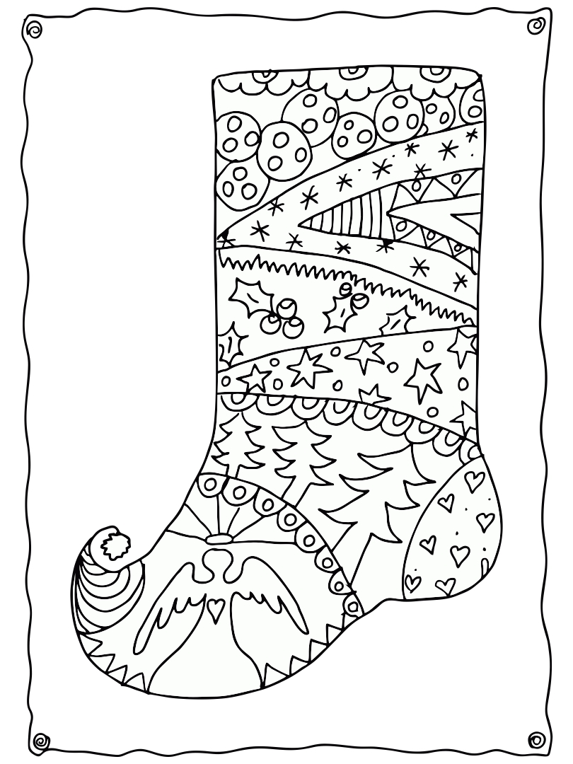 Christmas Adult Printable Coloring Pages