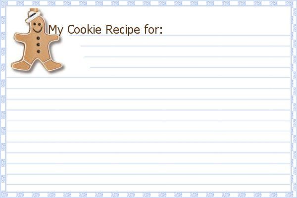 Christmas Cookie Printable Recipe Cards