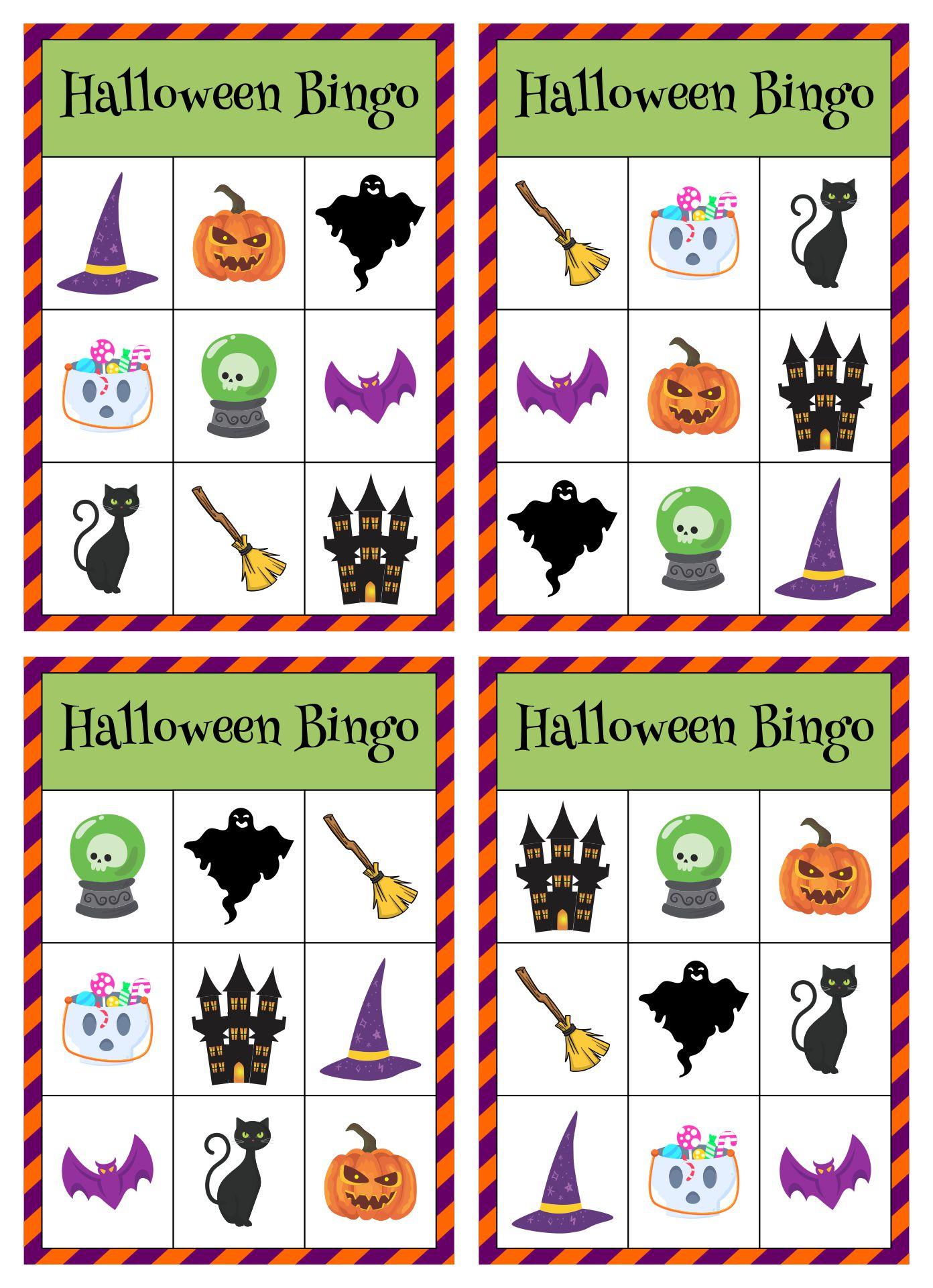 Halloween Printable Bingo Playing Cards