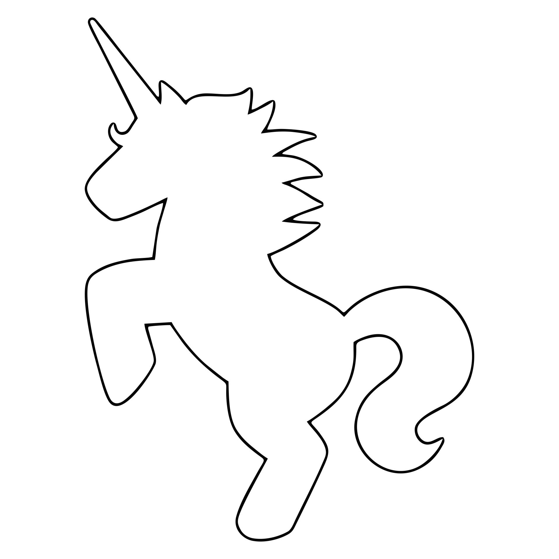 Unicorn Stencils  Printable