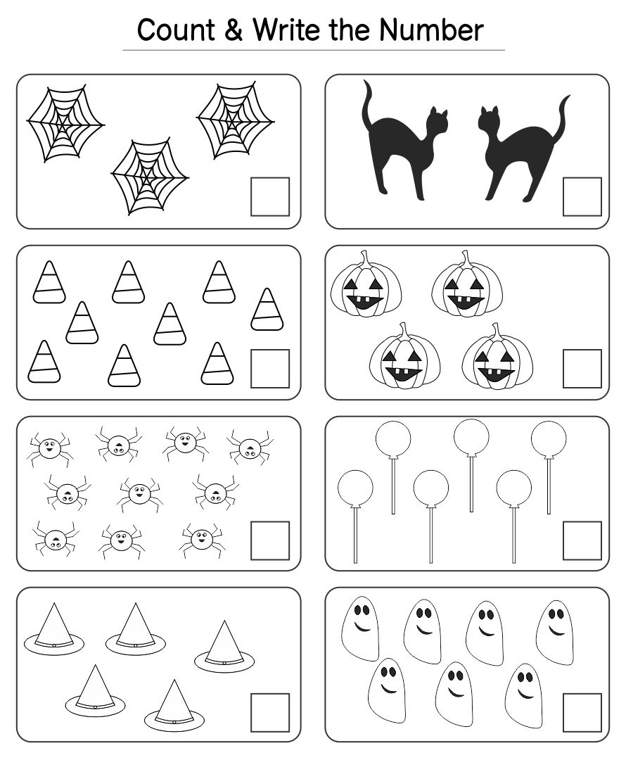 Preschool Halloween Worksheets Printables
