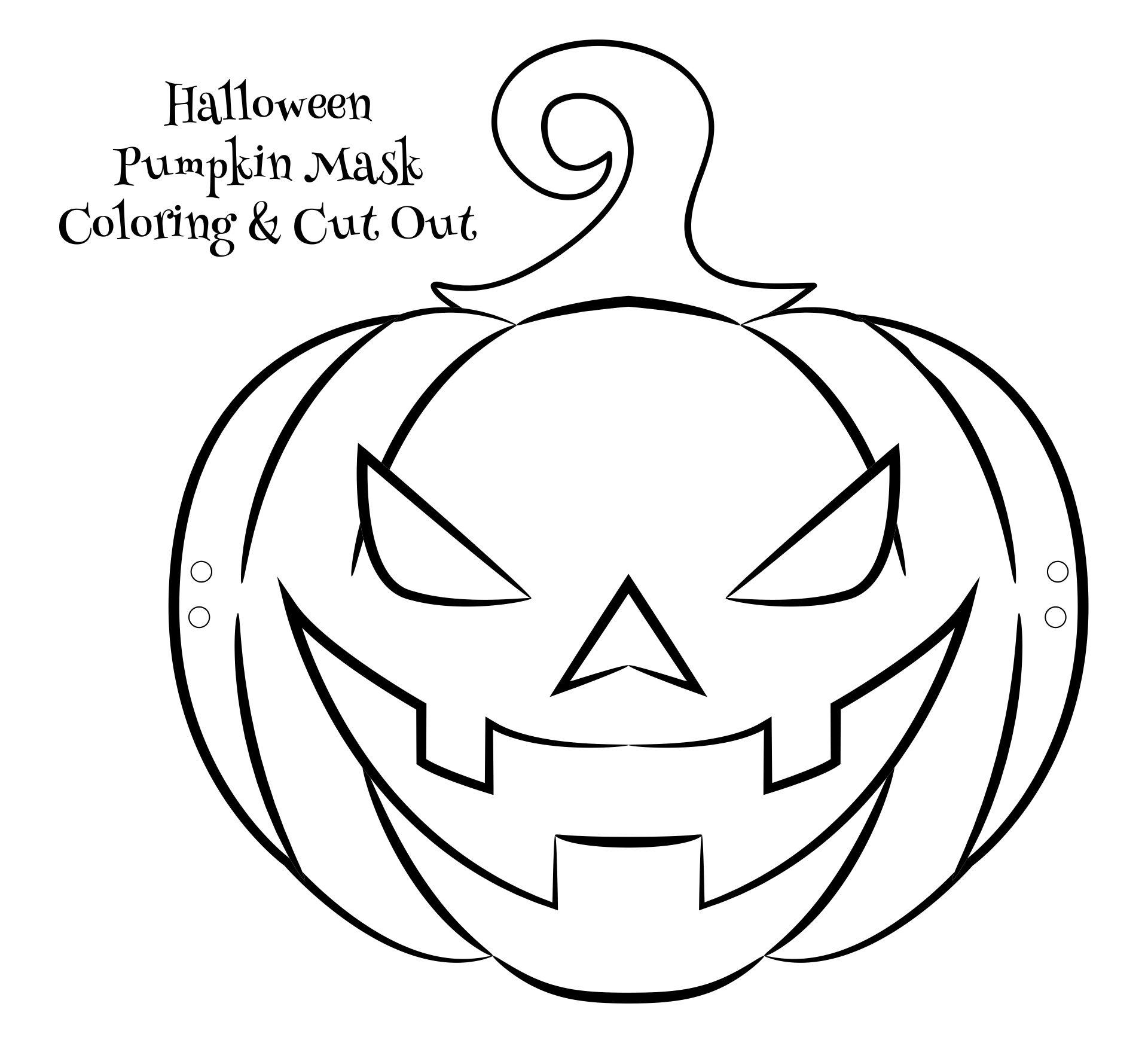 Kindergarten Crafts Halloween Printable Masks