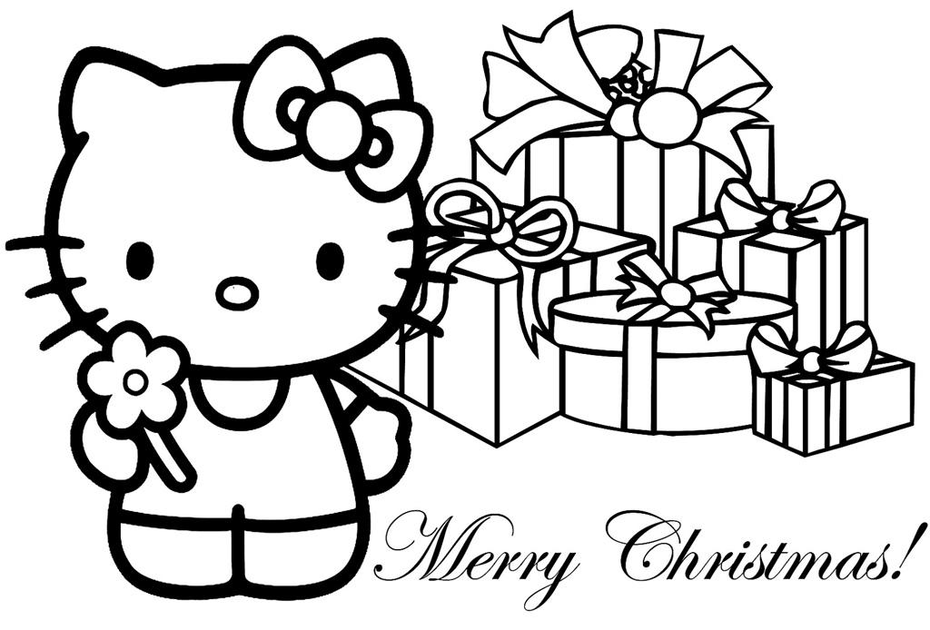 Hello Kitty Christmas Coloring Printables