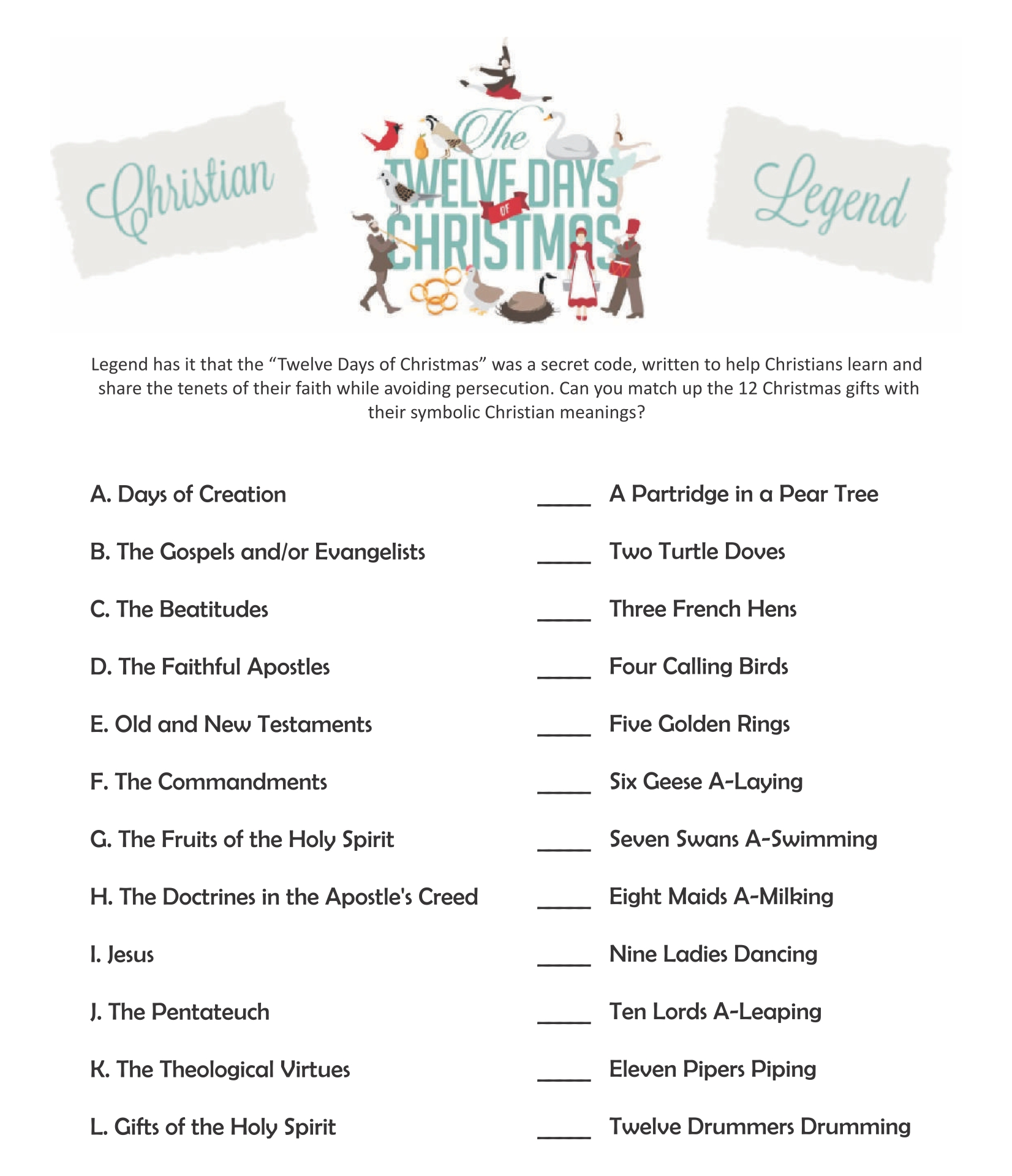 Religious Christmas Printable Activities